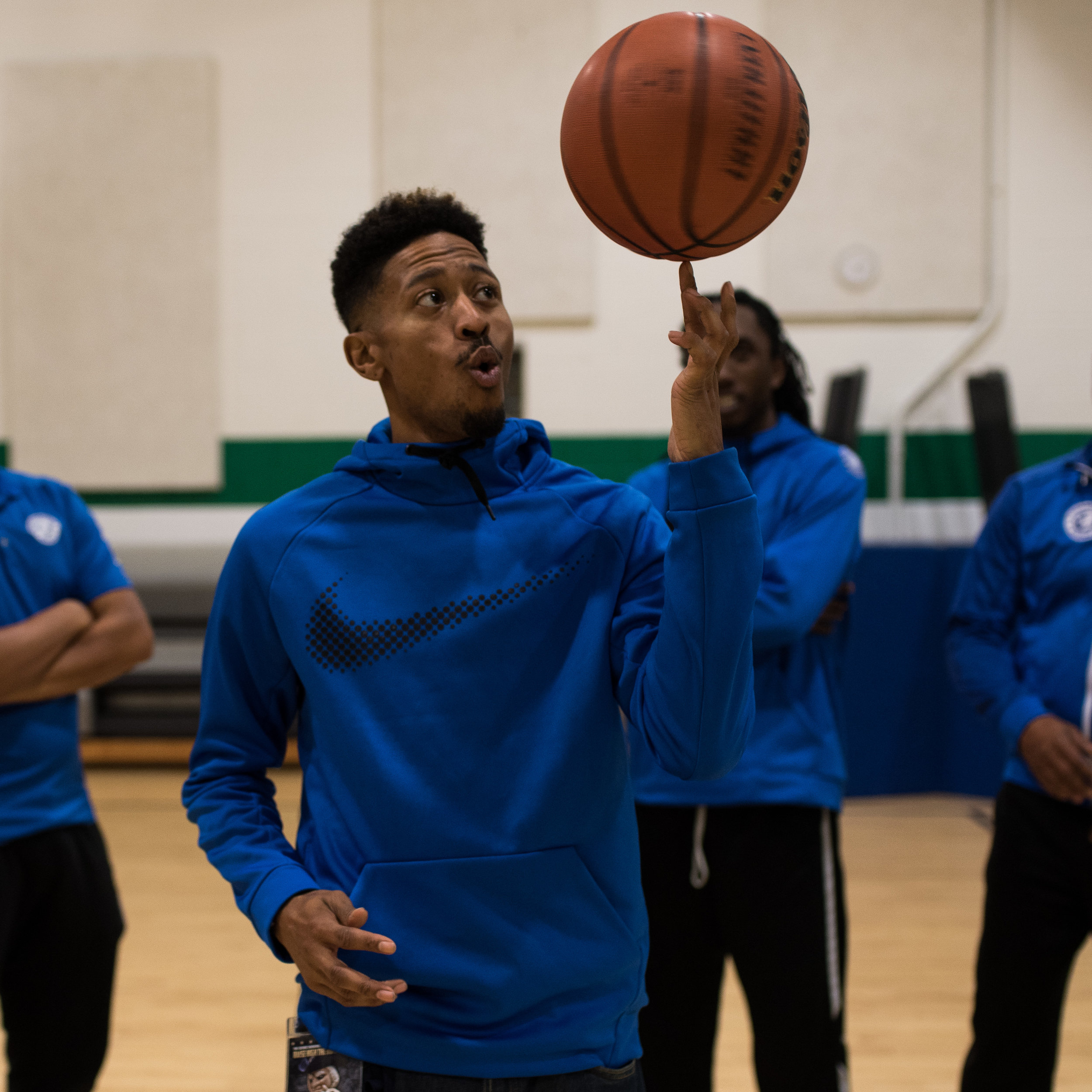 Coach T - Dior Toney began working with his longtime friend Omar Griffin at Fundamentals Academy to help kids Discover the Athlete. He Played on GWU Men's Basketball team, which in 2006 was ranked as high as 6th in the nation and reached the sweet sixteen in the NCAA tournament.