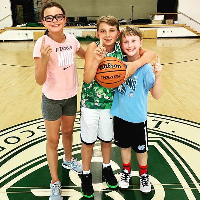 Last day of summer camp in the books! #3on3champions #discovertheathlete #fundamentals #basketballcamp #summercamp #stpats