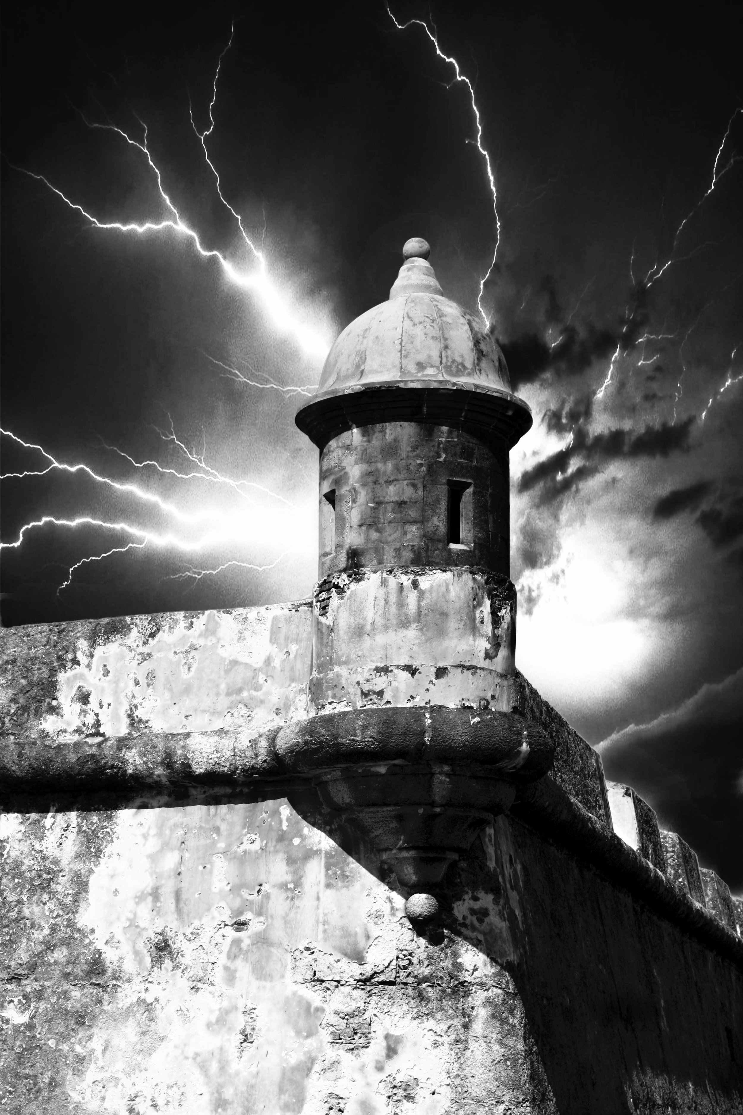 Dramatic Castle Tower  B105