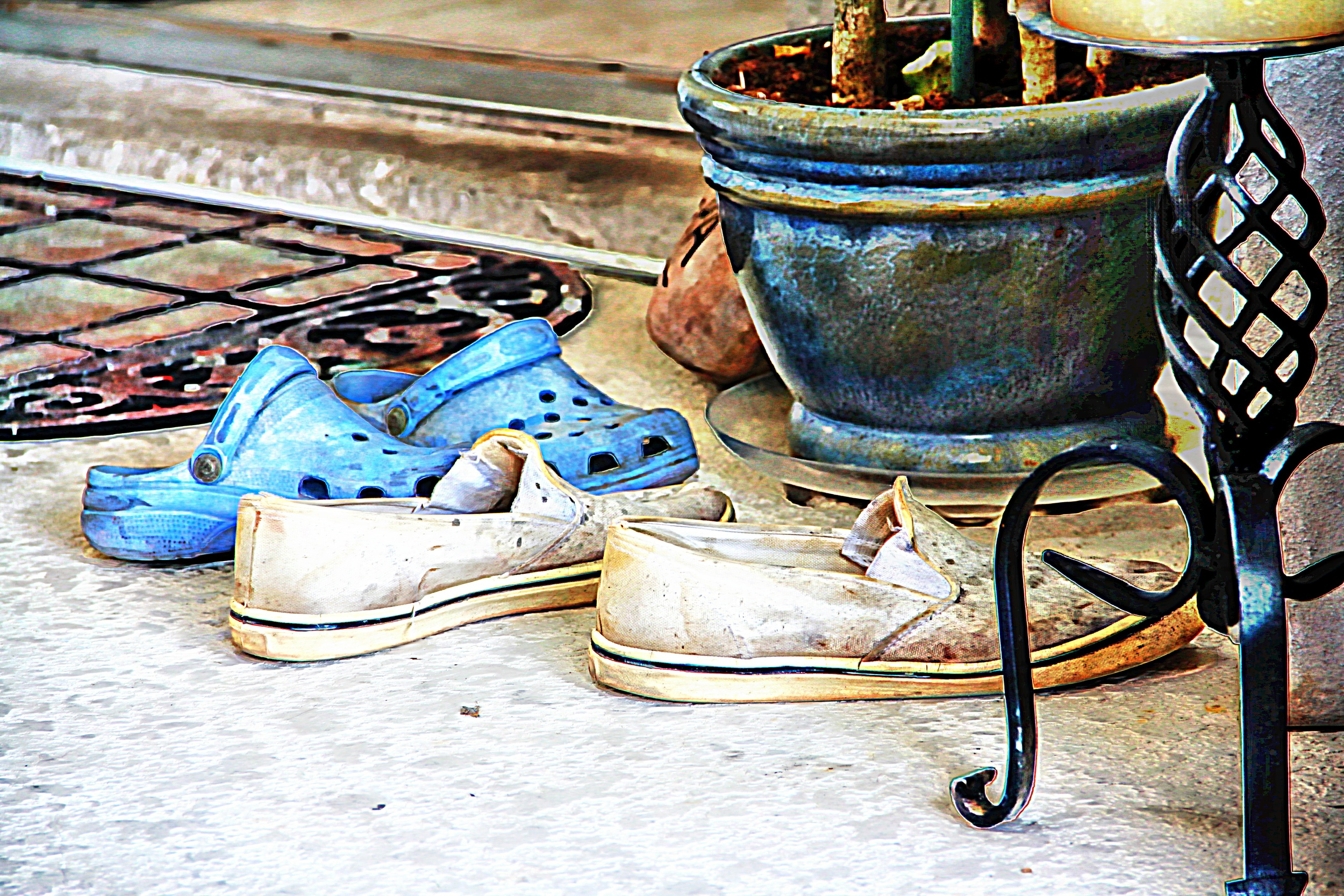 Dirty Old Shoes in Color  W114