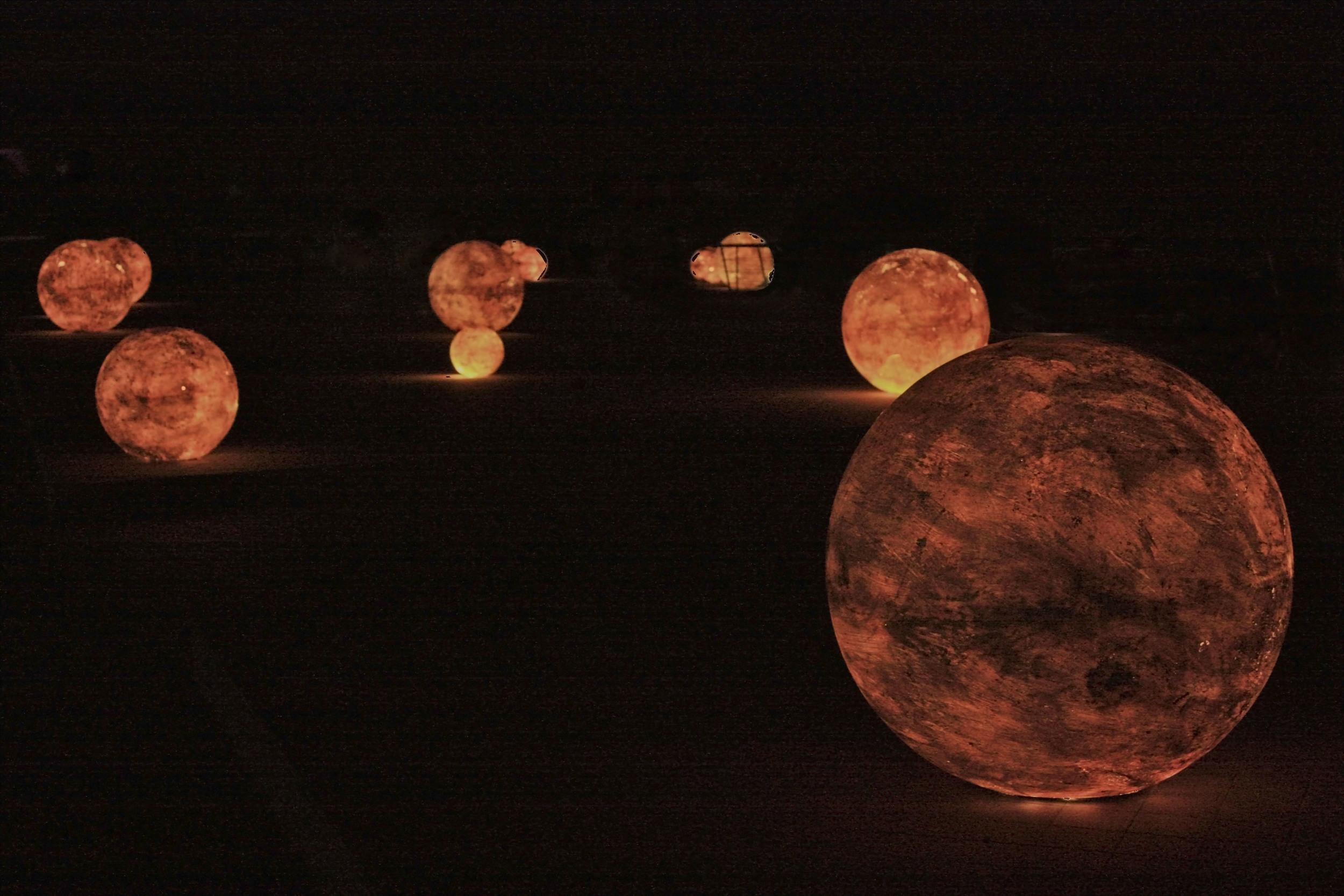 Light Balls in the Night  M105