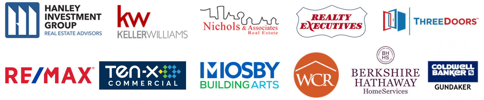 Real Estate & Commercial brands that have worked with Missouri Home Tours include Keller Williams Realty, Nichols & Associates Real Estate, Realty Executives, RE/MAX, Worth Clark Realty, Berkshire Hathaway HomeServices, Coldwell Banker / Coldwell Banker Gundaker, Hanley Investment Group, Mosby Building Arts, & Ten-X Commercial.