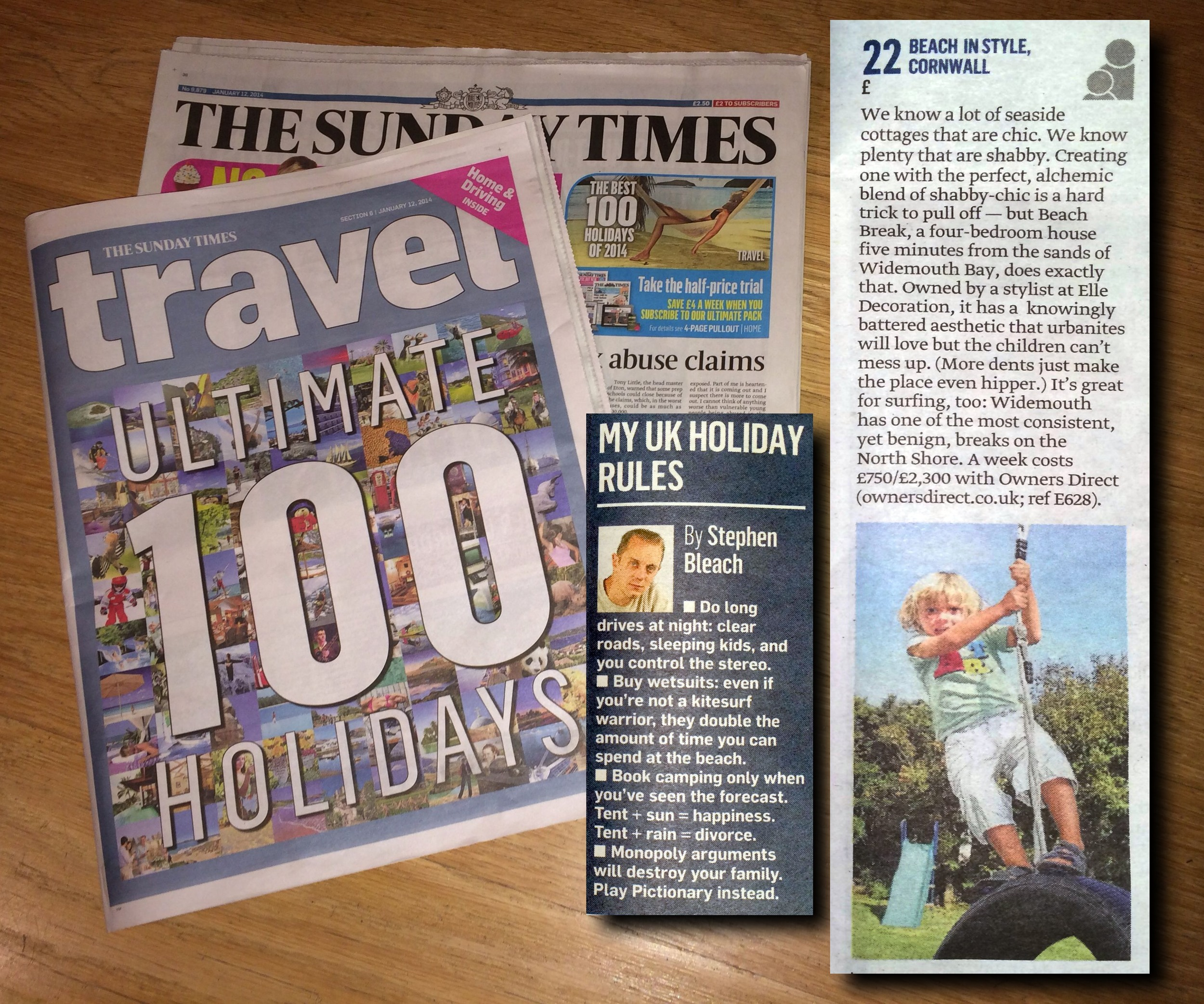 No 22 in The Sunday Times 100 Ultimate Holidays