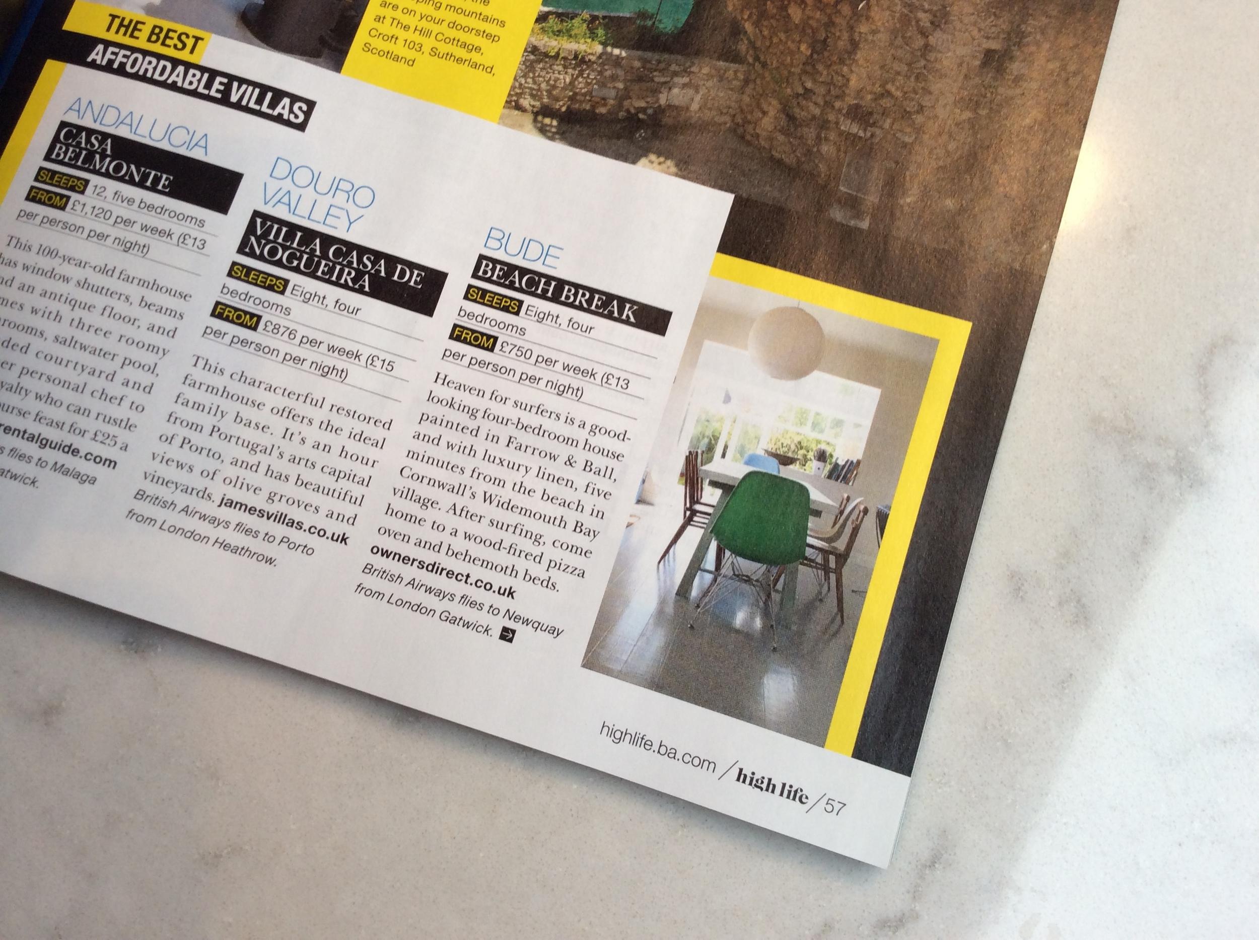 British Airways High Life magazine write up