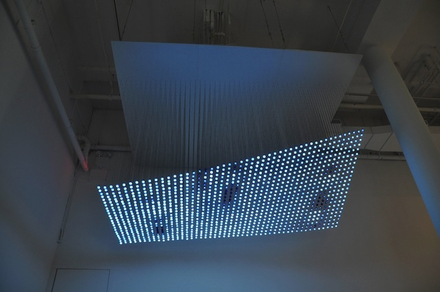 Jim Campbell, Untitled (study for The Journey), LEDs, metal, wire, custom electronics, 6 x 10 x 12 feet