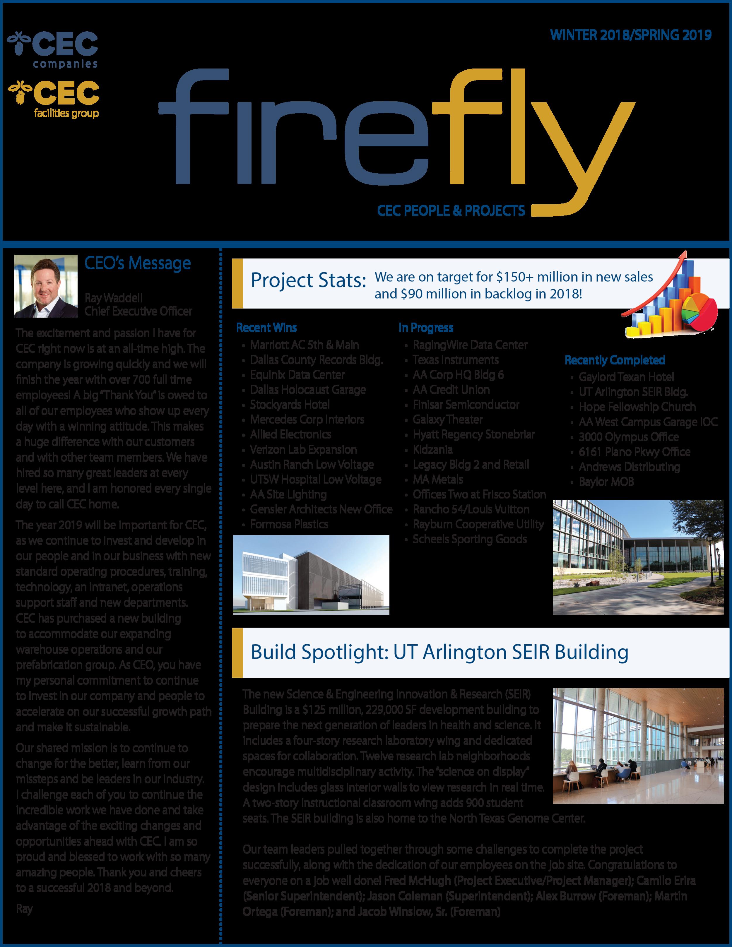 Firefly Newsletter Winter 2018/Spring 2019