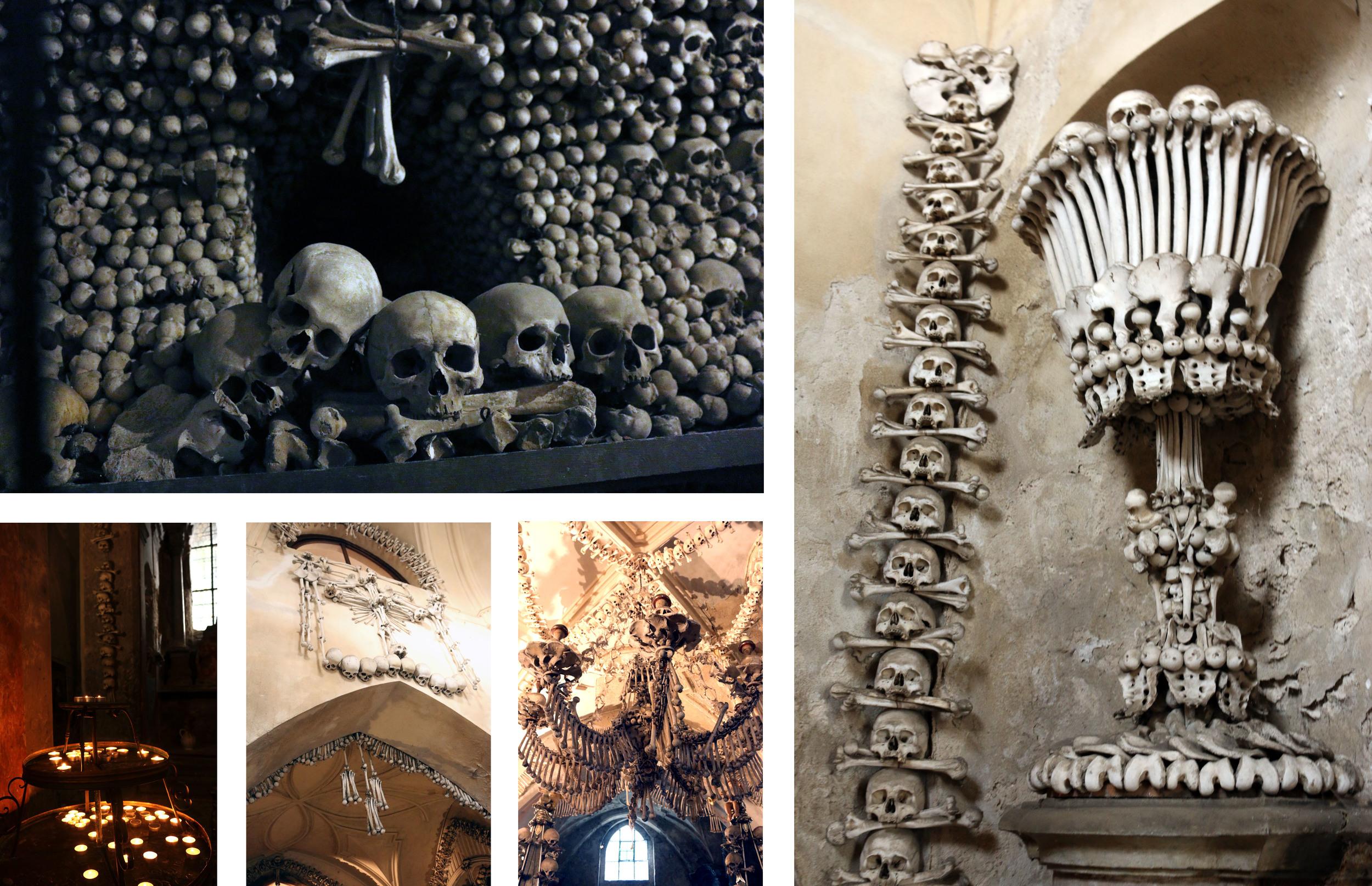 The Sedlec Ossuary, look at all dem bones.