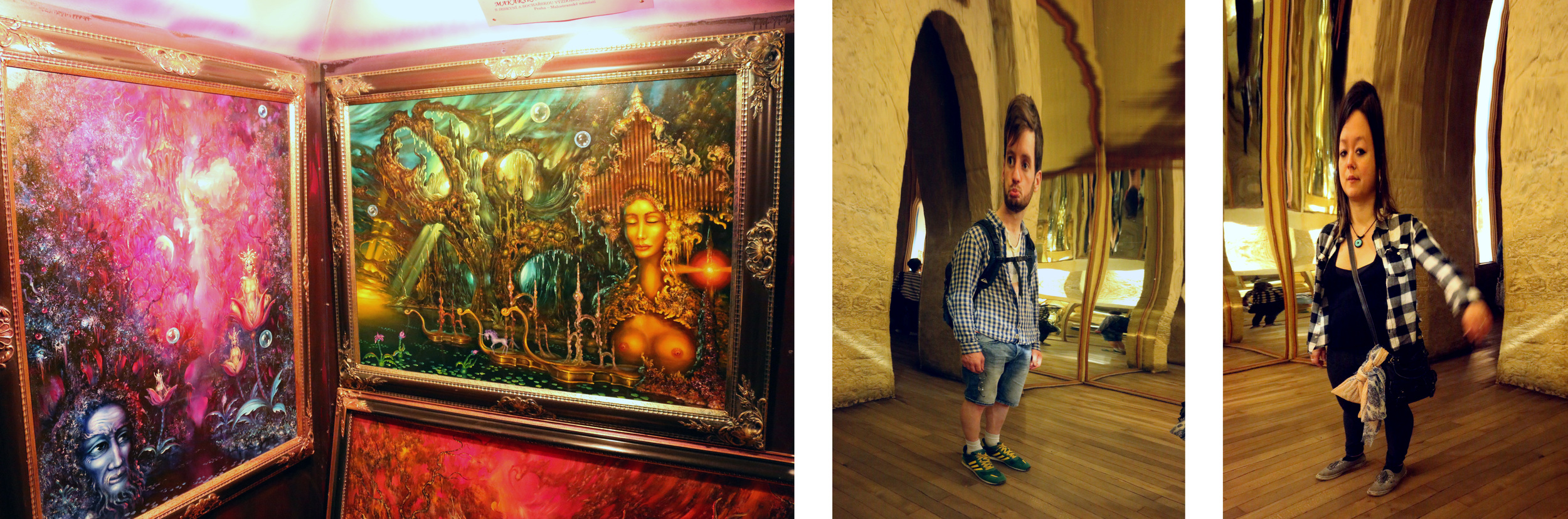 We found this neat little museum with fantastical works painted by Czech artist Reon Argondian. Then, we found a house of mirrors.