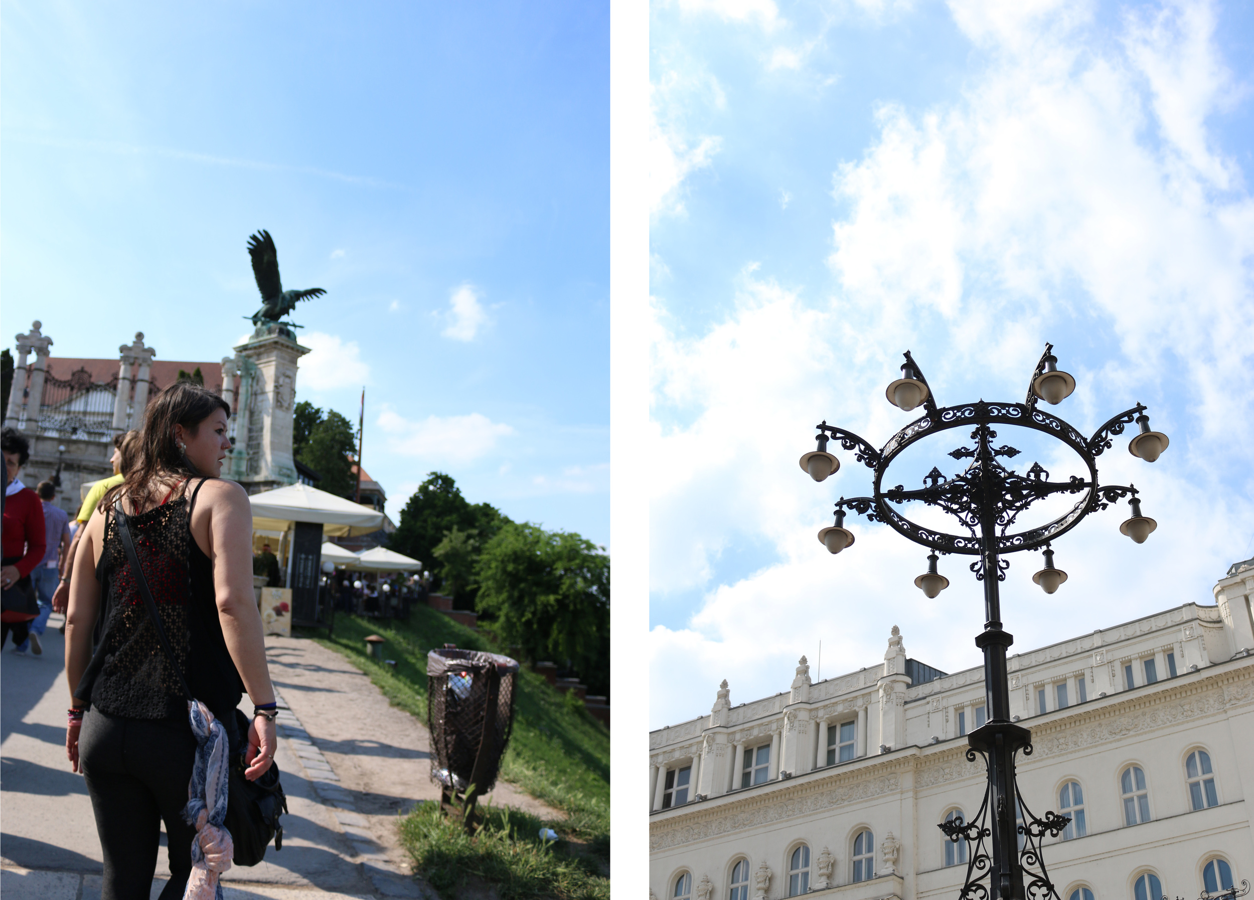 Walking up to the Buda castle