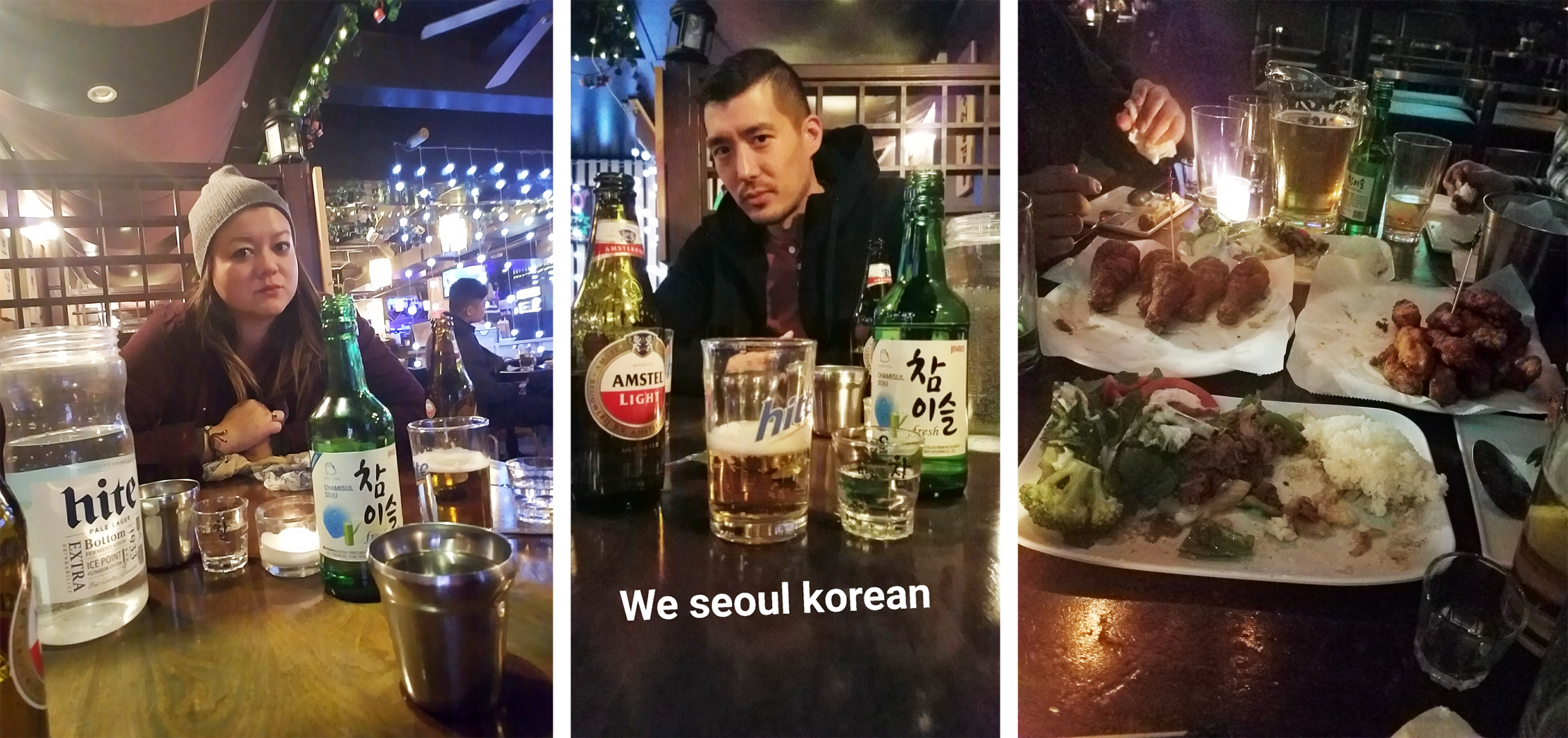Hanging in Koreatown, since we obviously are seoul Korean. Also, blue steele. Duh.