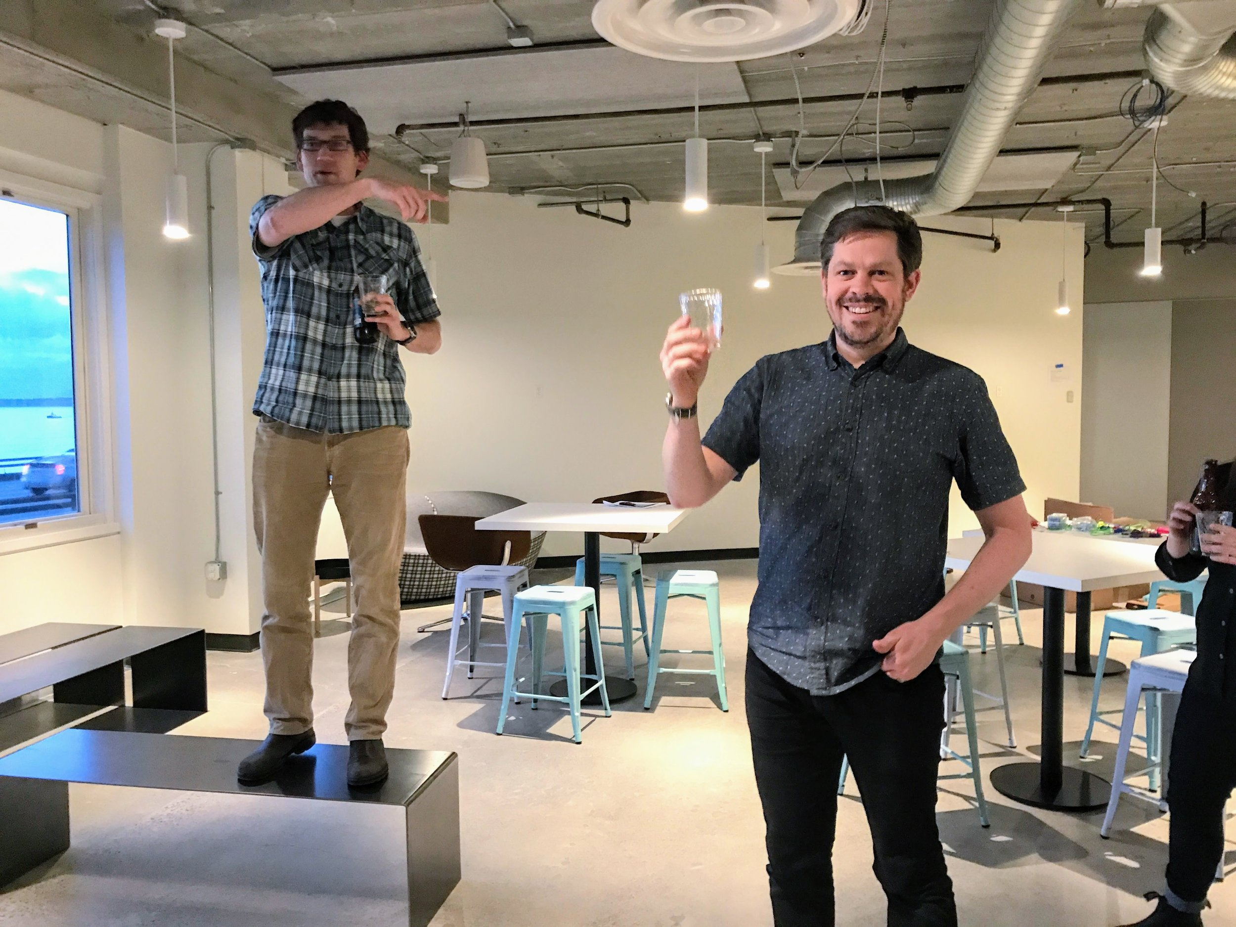 Geoff Harrison, Head of UX Services & Partner, announcing my new title. Cheers!