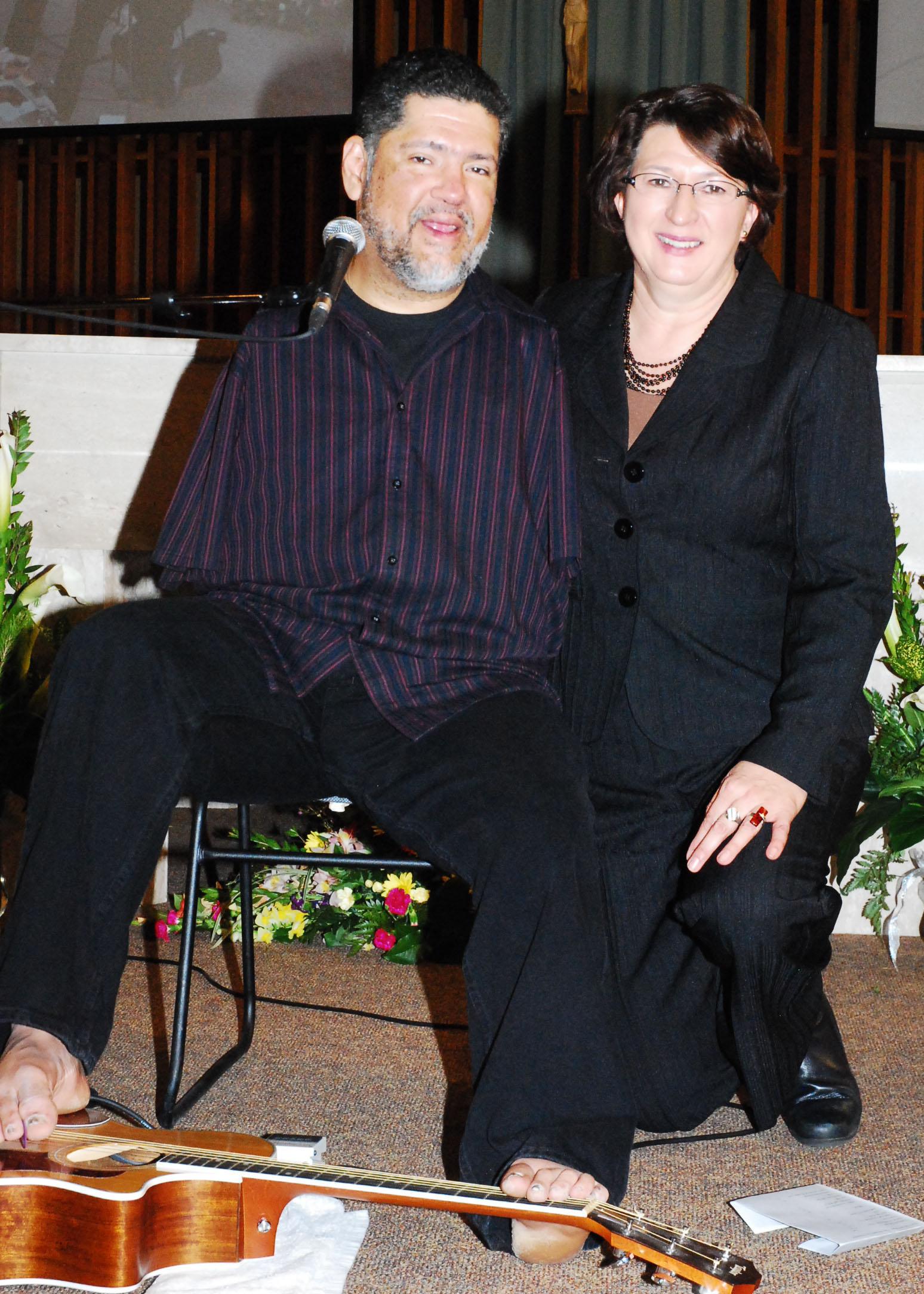 Tony M with Alene M.JPG