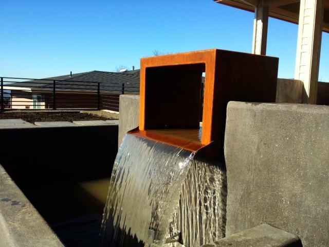Corten Cube Water Feature
