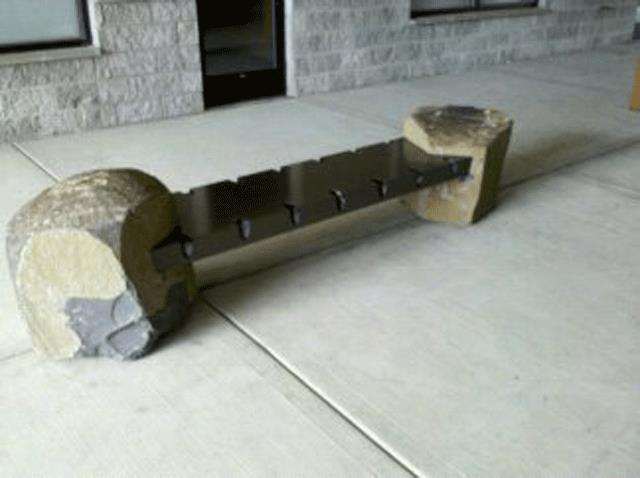 Mild Steel and Boulder Bench