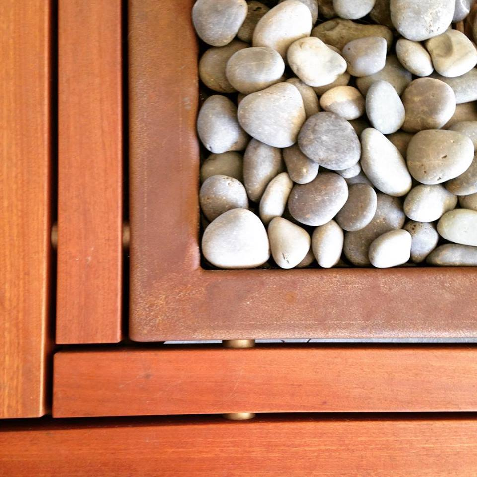 Batu Bench and Pebble Detail