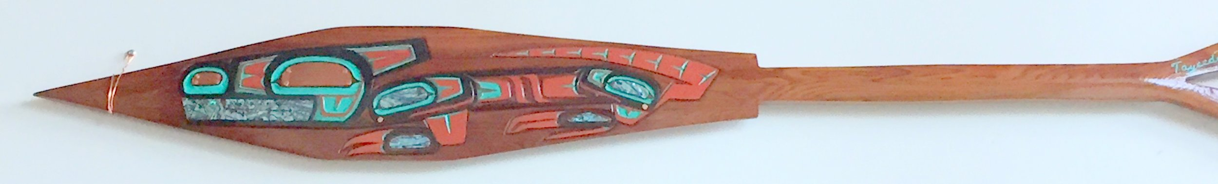 ROSS NANNAUCK III Tlingit War Paddle