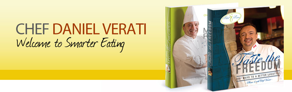 Put a Dash of Fun and Flavor into Your Ideal Protein Weight Loss Experience   Welcome to Smarter Eating, with Chef Daniel Verati   Food is more than a daily necessity, it's a source of joy and creativity that many of us don't want to give up when we have to lose weight. That's why Ideal Protein's master of the savoury arts, Chef Daniel Verati, is driven to crush the stereotype of 'diet food' as boring and tasteless. Chef Verati's source of joy is inspiring your love of the culinary arts while you re-discover a healthier you. His passion is driven by the difficulty he experienced with his own weight loss struggles. After Chef Verati discovered the Ideal Protein method, he personally lost 100lbs and has dedicated his life to helping dieters lose weight and rehabilitate their eating habits.