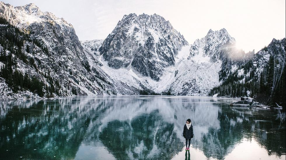 This scene was captured by Stewart at Colchuck Lake in Washington.