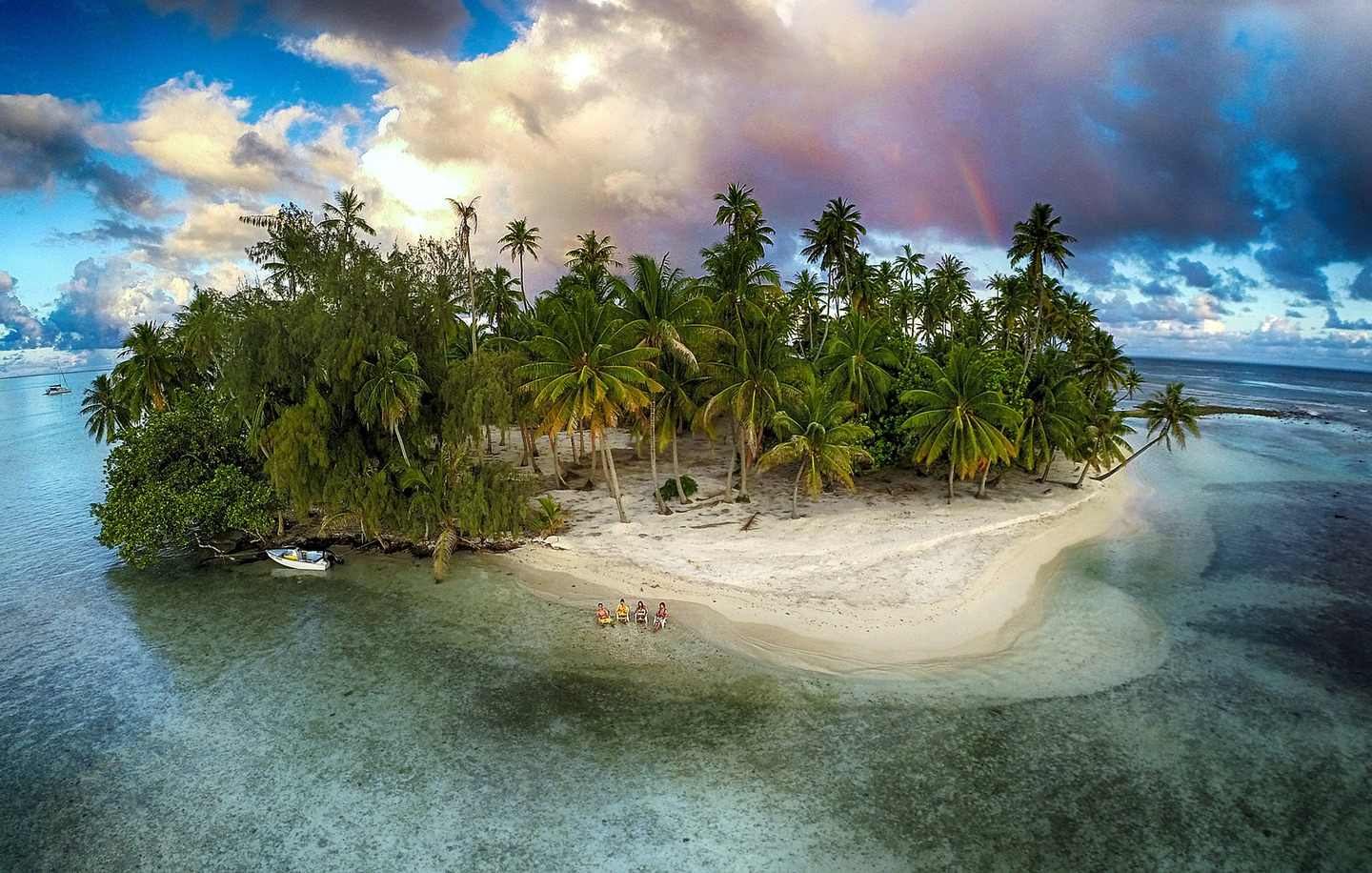 Lost island. Photo by Marama via Dronestagram.