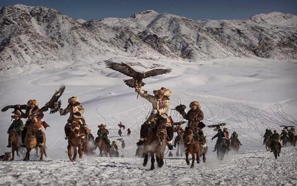 Kevin Frayer - Eagle Hunters of Western China. 1st Place, Enviornment