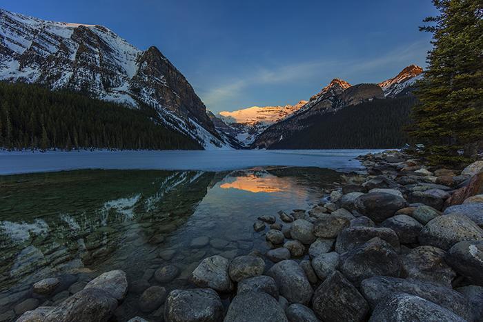 Sunrise at Lake Louise, Banff National Park