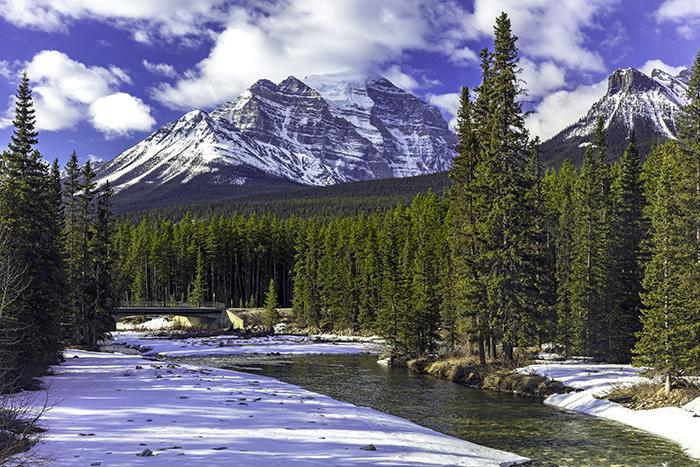 Morning view at the Bow River, Banff National Park