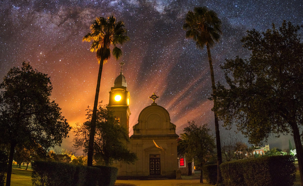 Unexpected conditions reveal an ethereal vision of the Benedictine abbey at New Norcia.Photo credit: Sandino Pusta