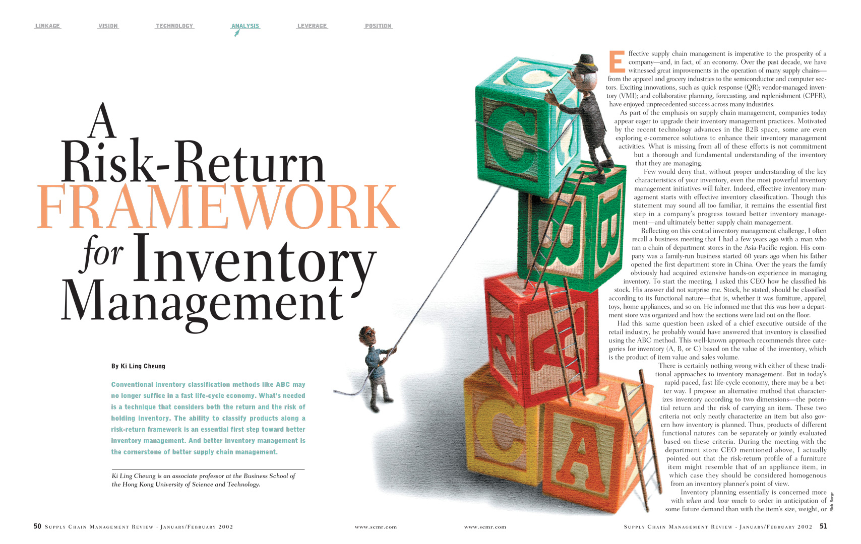 A Risk-Return Framework for Inventory Management