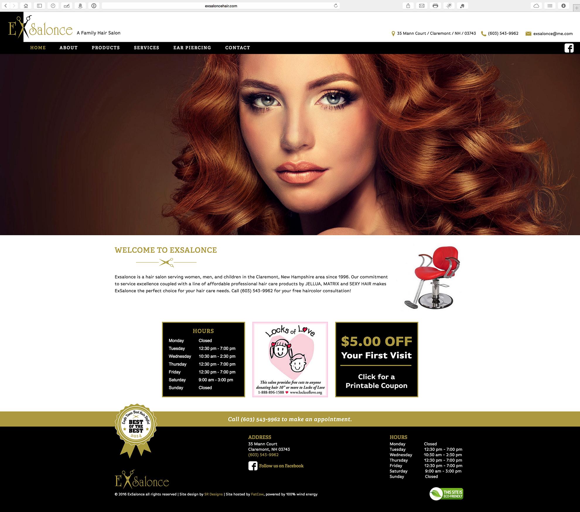 ExSalonce - Responsive Website Redesign