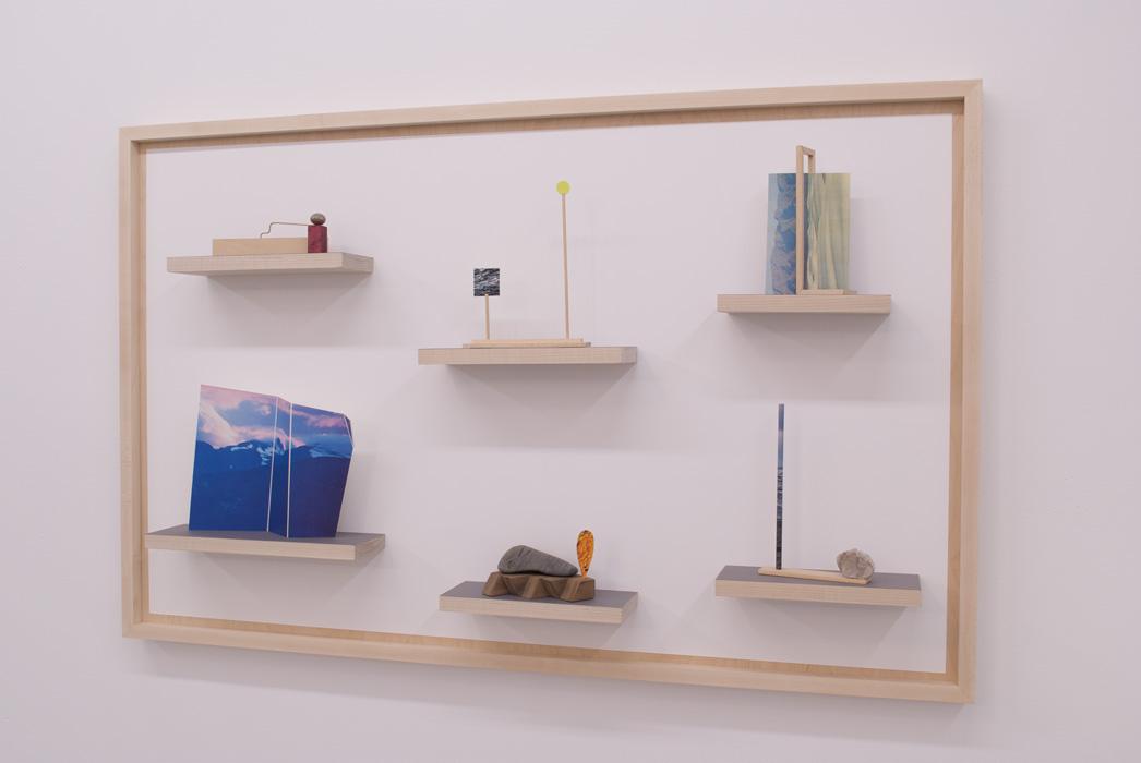 Maquettes 1-6,  2014   maple, paper, wire.28x 44x 5inches