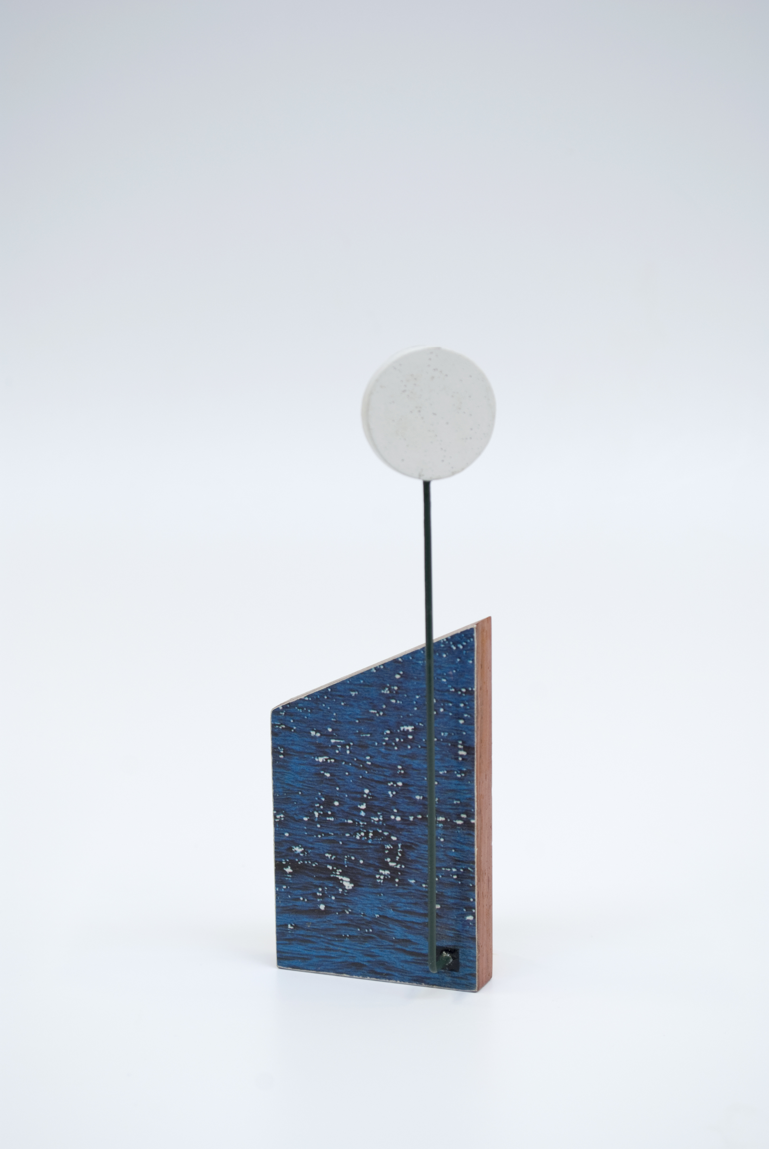 Maquette 12 (back) , 2015  5 x 2 x 1.5 inches  Wood, paint, found image