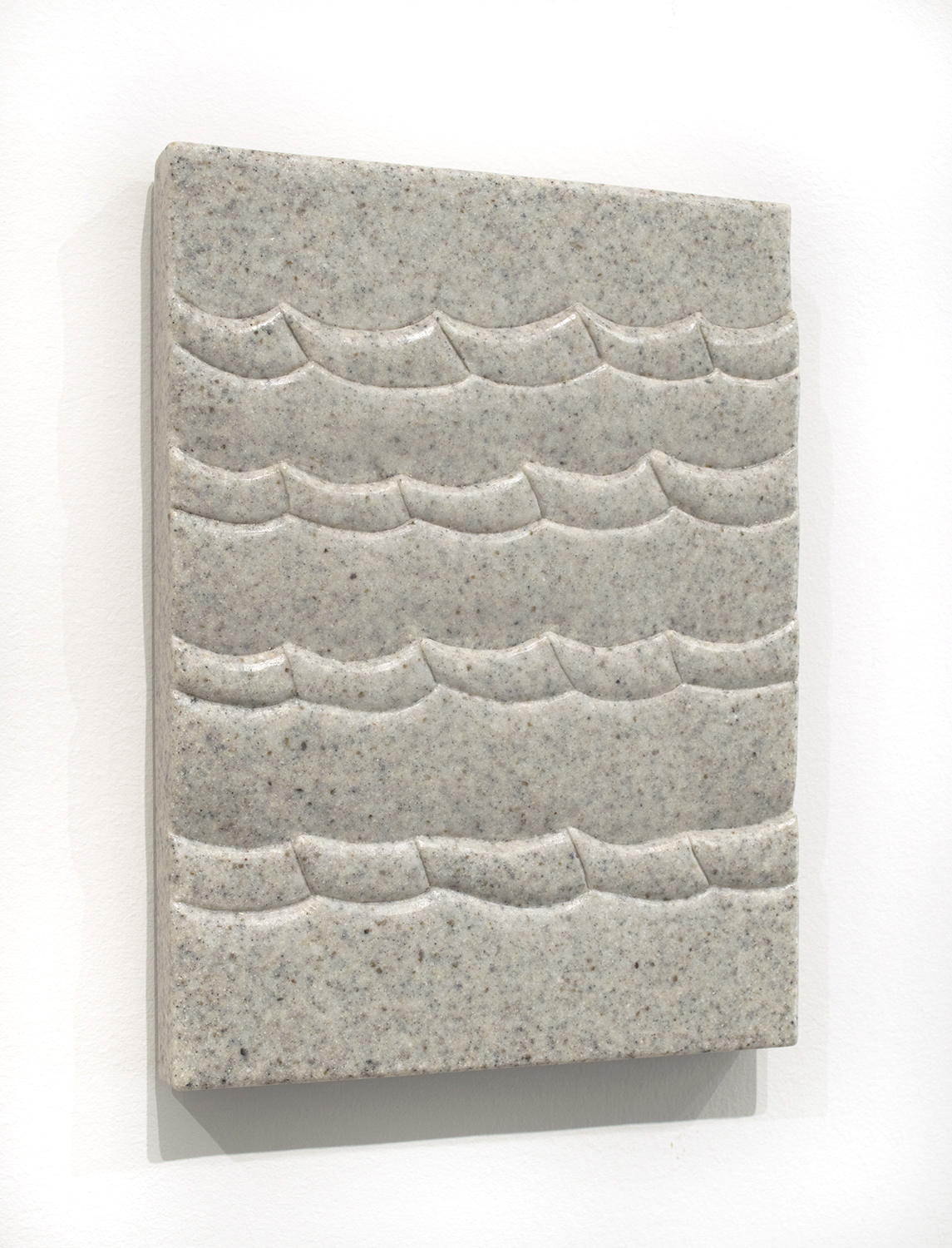 Sea Tablet (Tuscany),  2018  9 x 12 x 1.5 inches  Marble composite