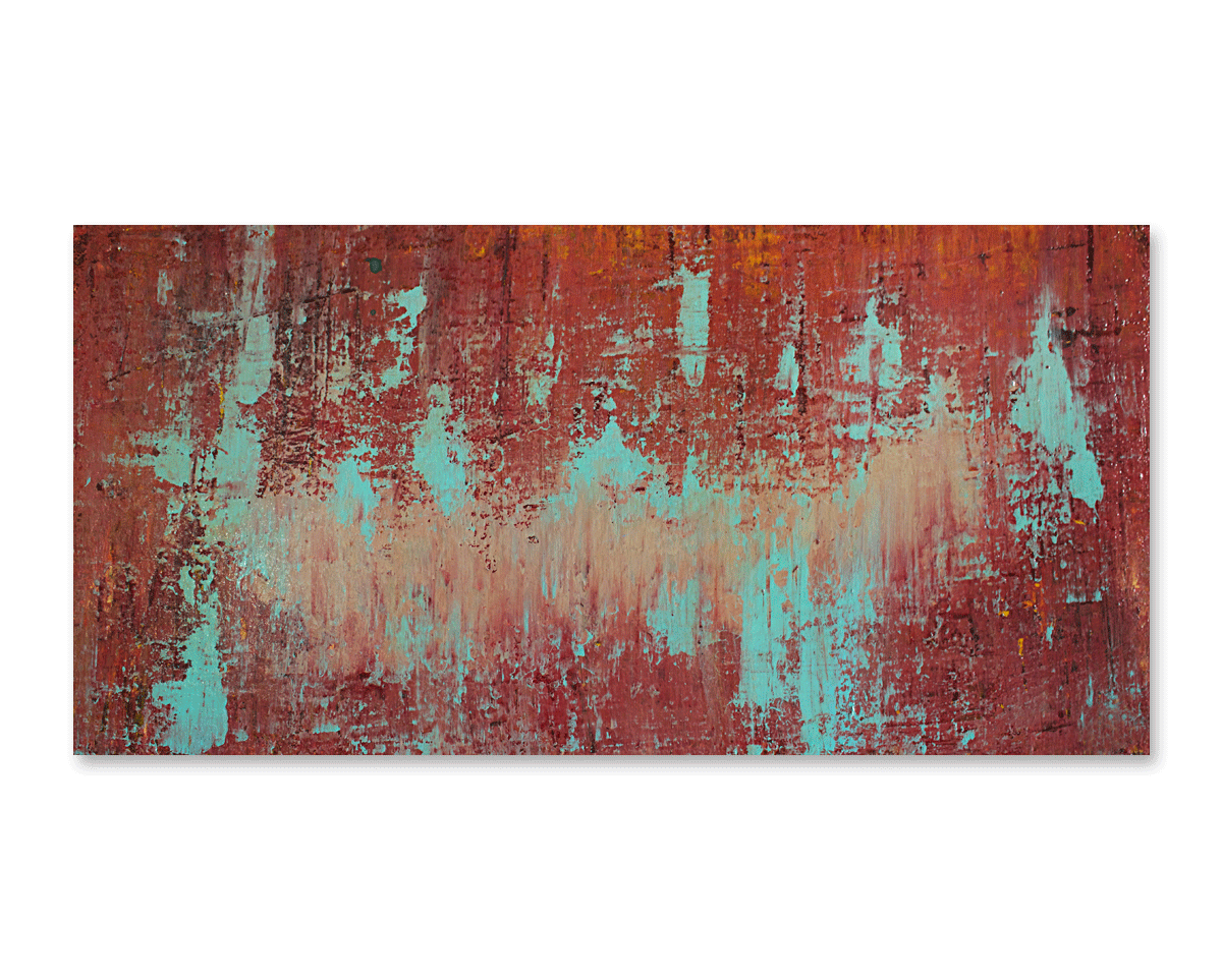 """Escalating""  24x12 - acrylic on wood board, high gloss finish"
