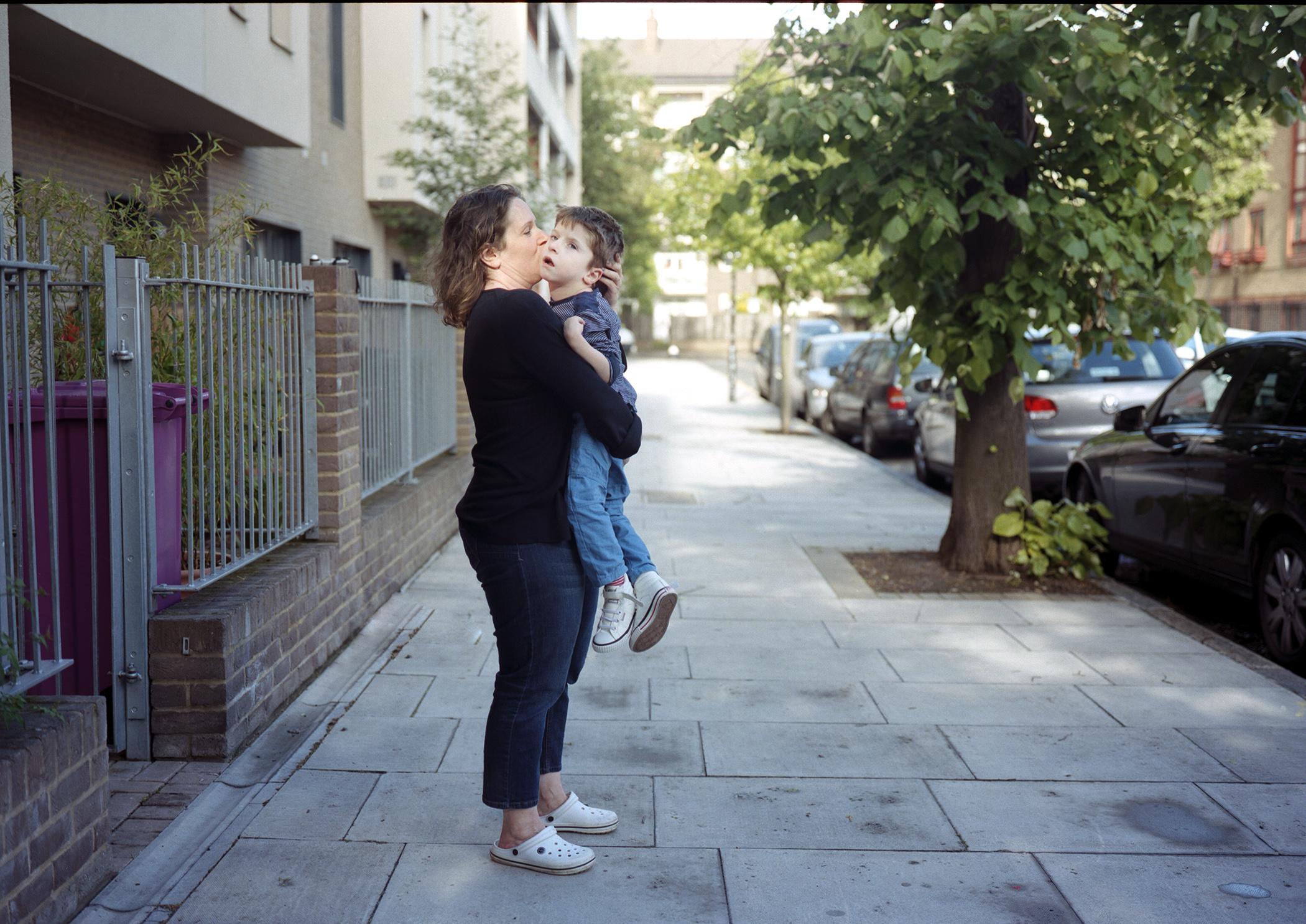 Risa hugs Miles