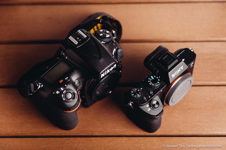 Nikon D810 vs. Sony A7ii size comparison