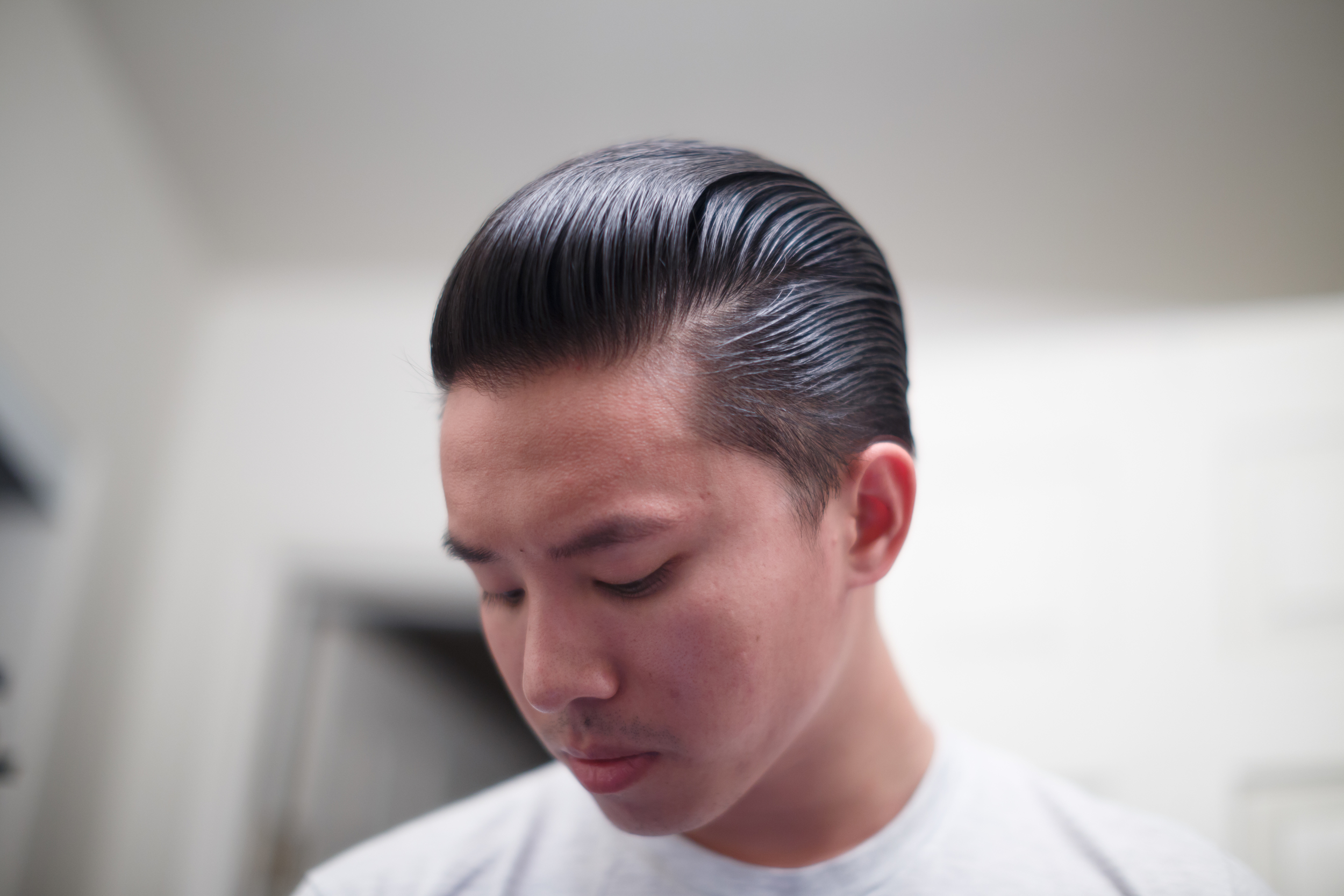 O'Douds Water Based Pomade slickness