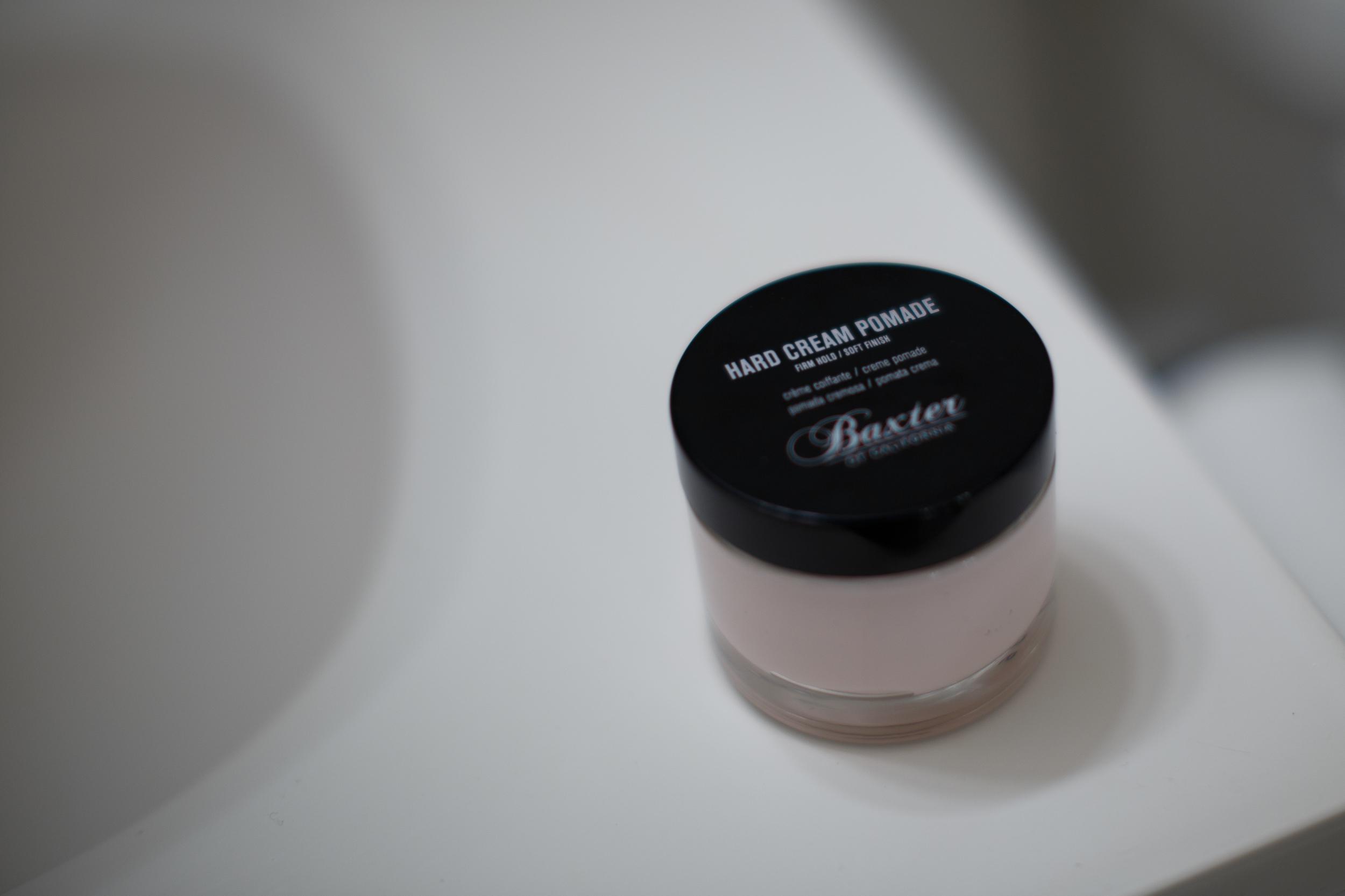 Baxter of California Hard Cream Pomade jar