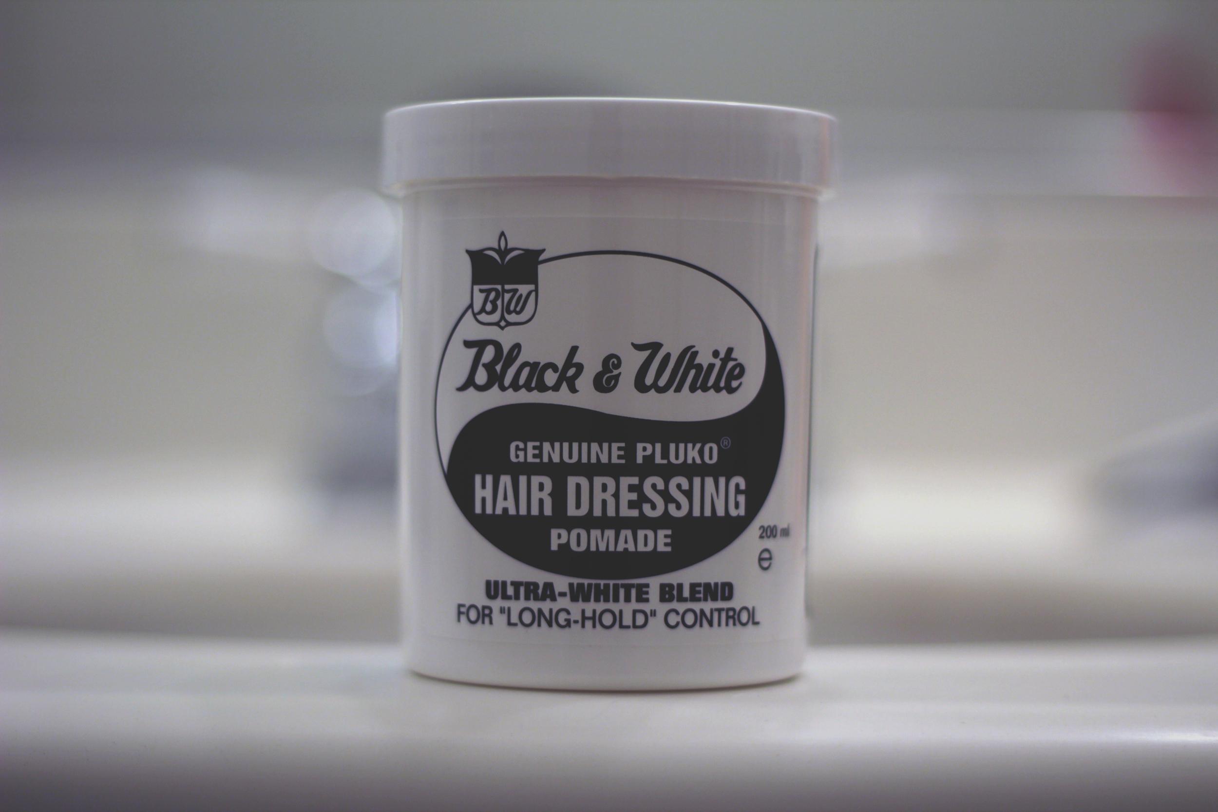 Black & White Hair Dressing Pomade - jar