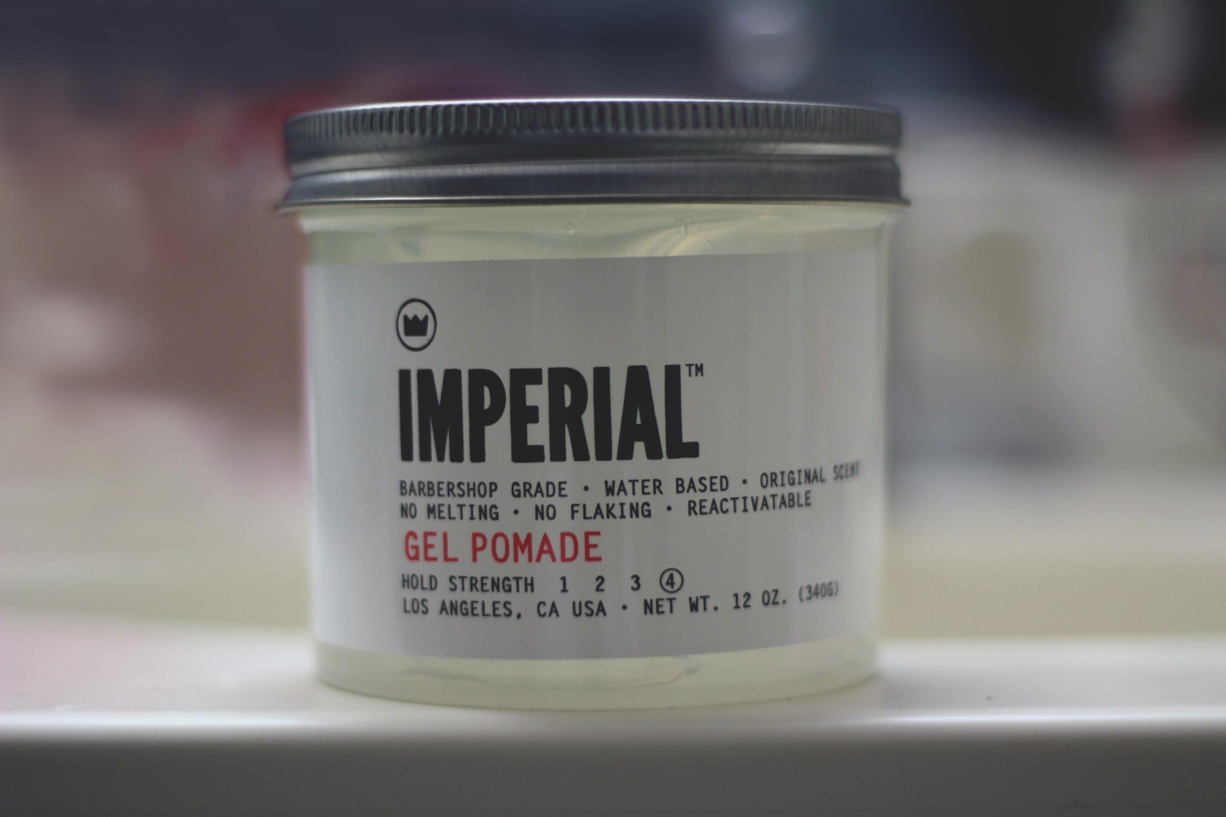 Imperial Gel Pomade jar