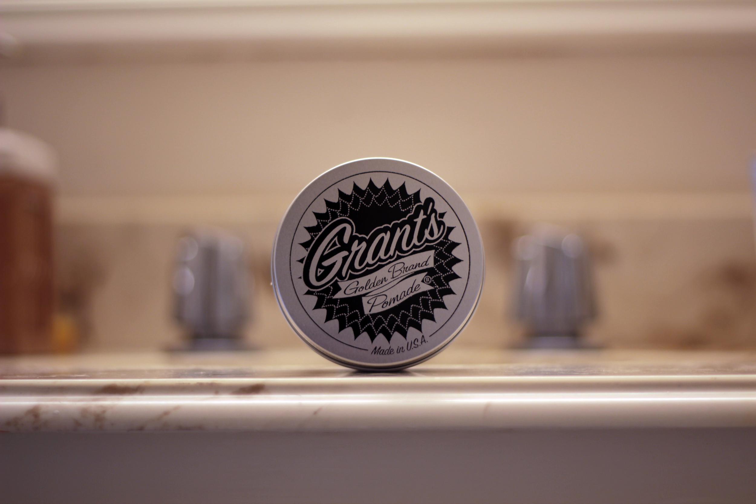 grant's golden brand pomade jar
