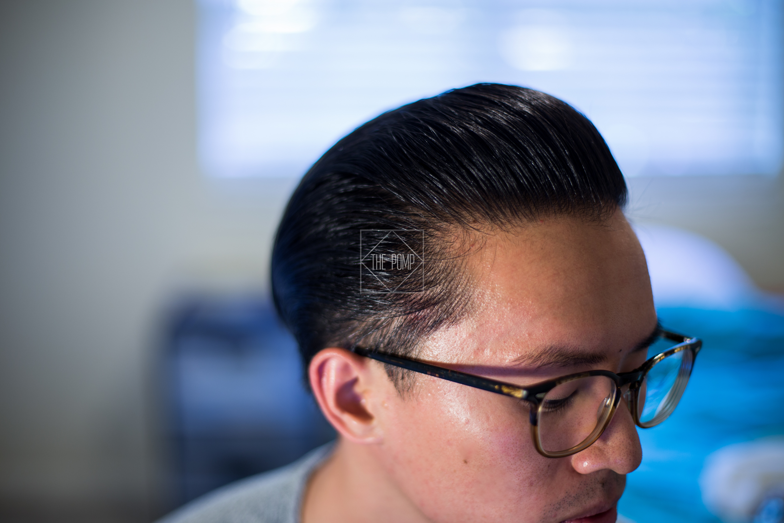 The Iron Society Firm Hold Pomade final slickness