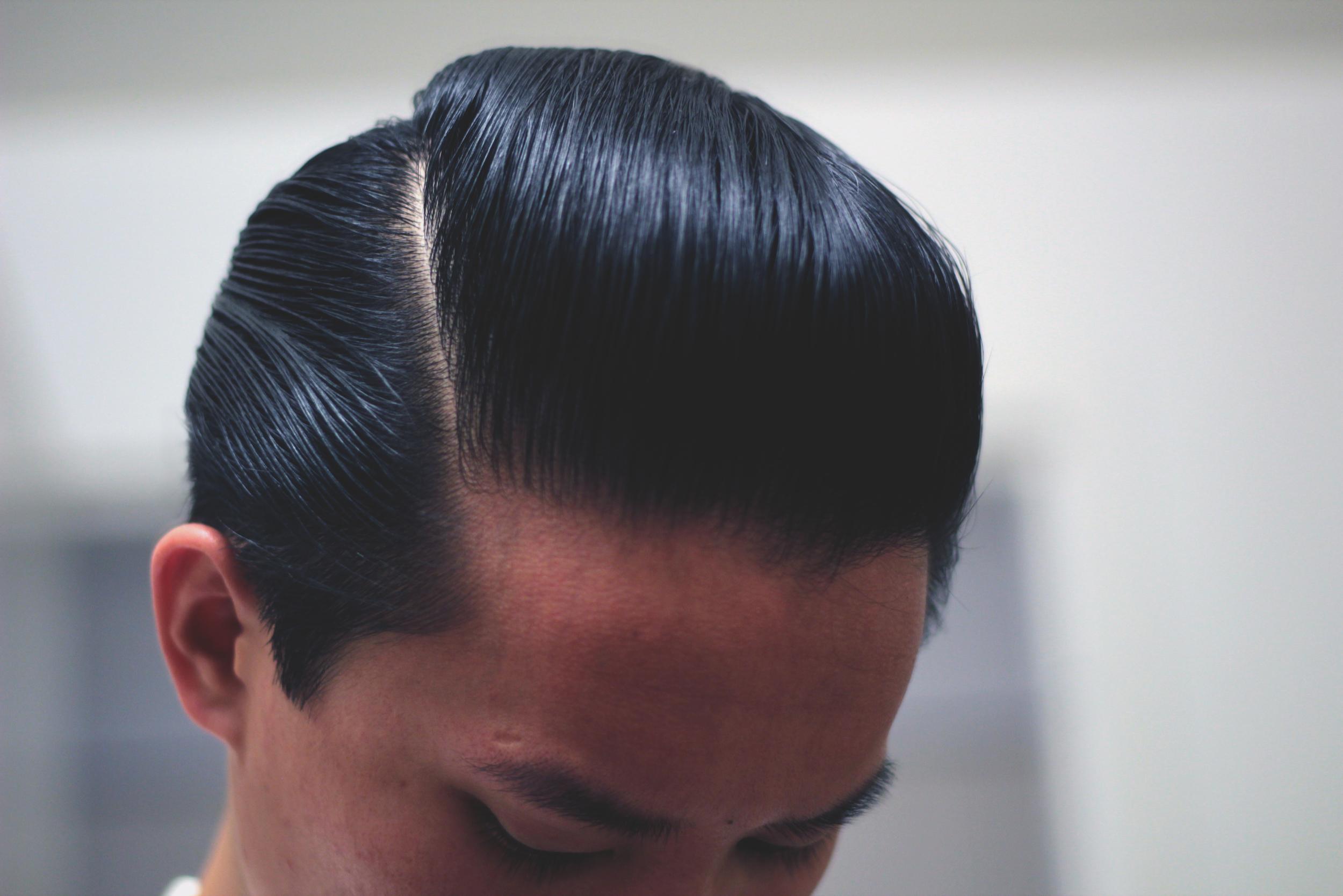 lockhart's goon grease hair pomade - pomp part