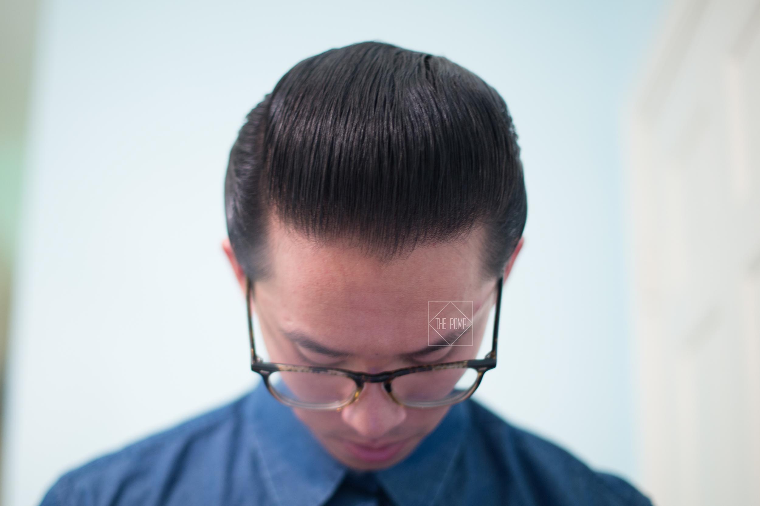 The Daimon Barber Hair Pomade No.2 slickness
