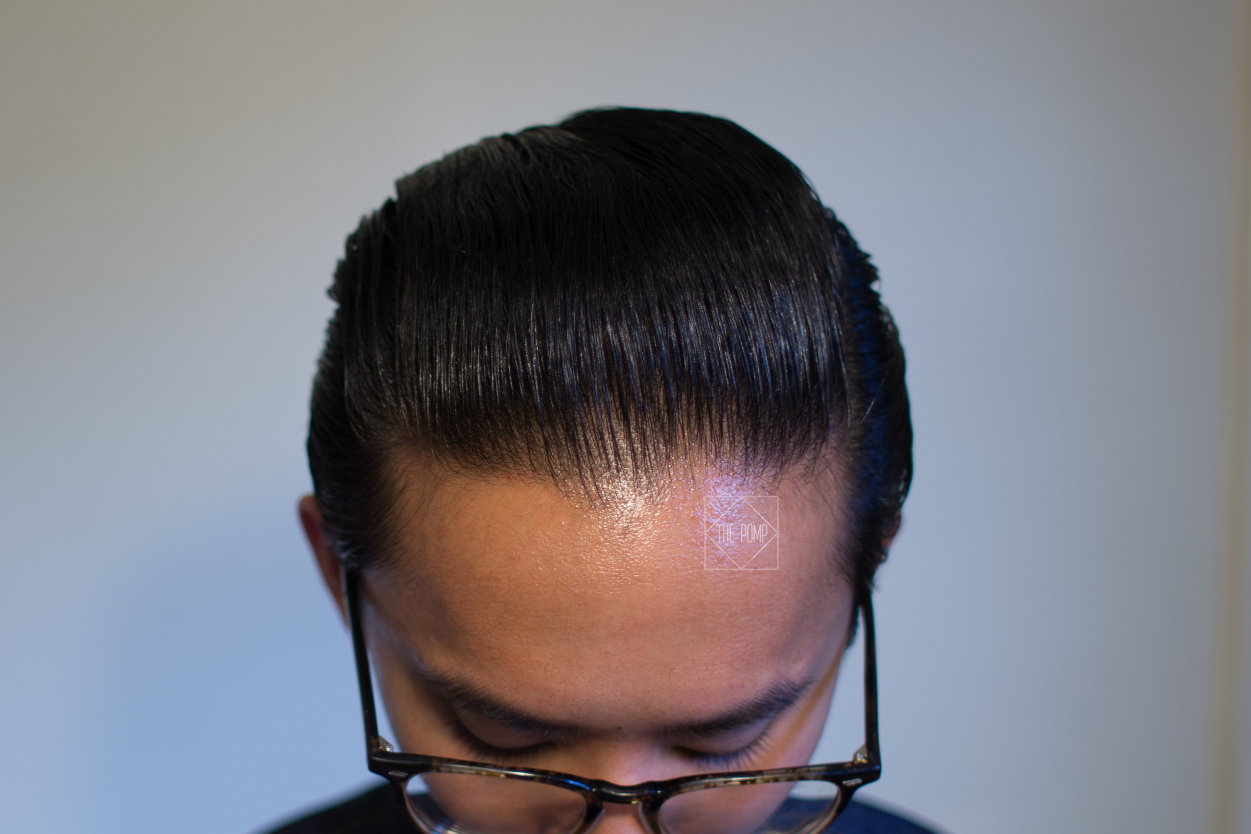The Mail Room Barber Pomade final shine
