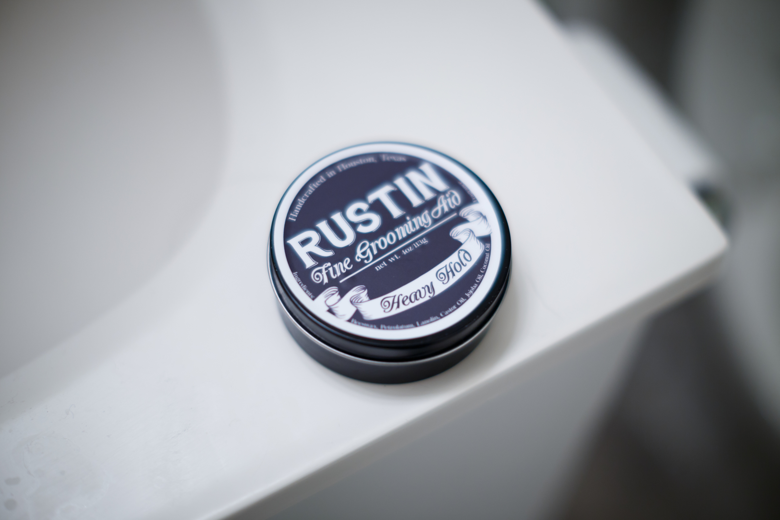 Rustin Heavy Hold Pomade Jar Tin Can
