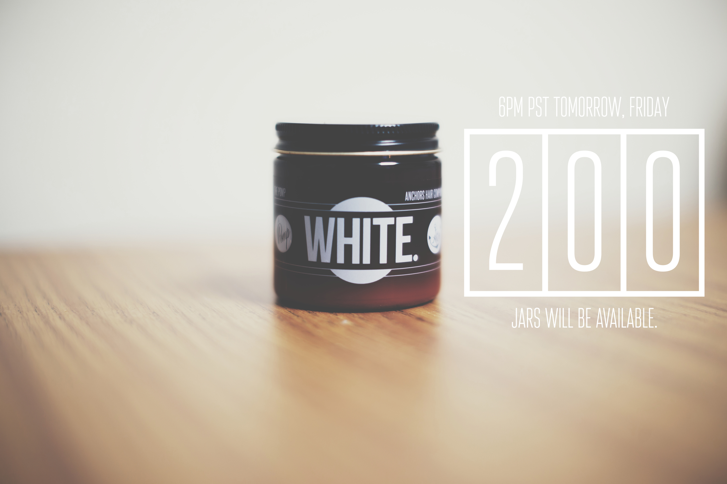 White. Pomade by The Pomp X Anchors Hair Company