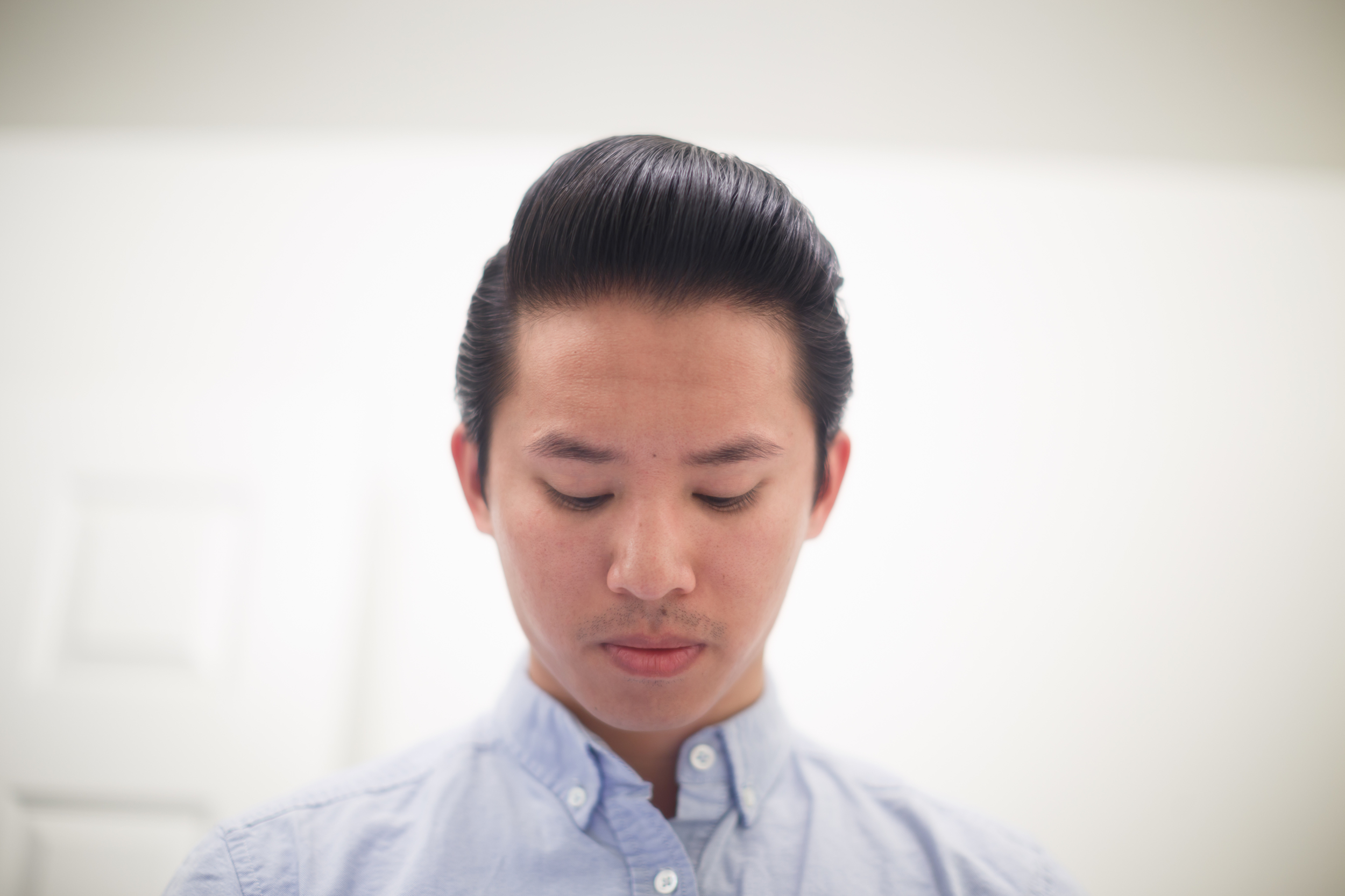 Shear Revival Crystal Lake Water-Based Water Based Hair Pomade Pompadour Pomp ThePomp Front Styled Example