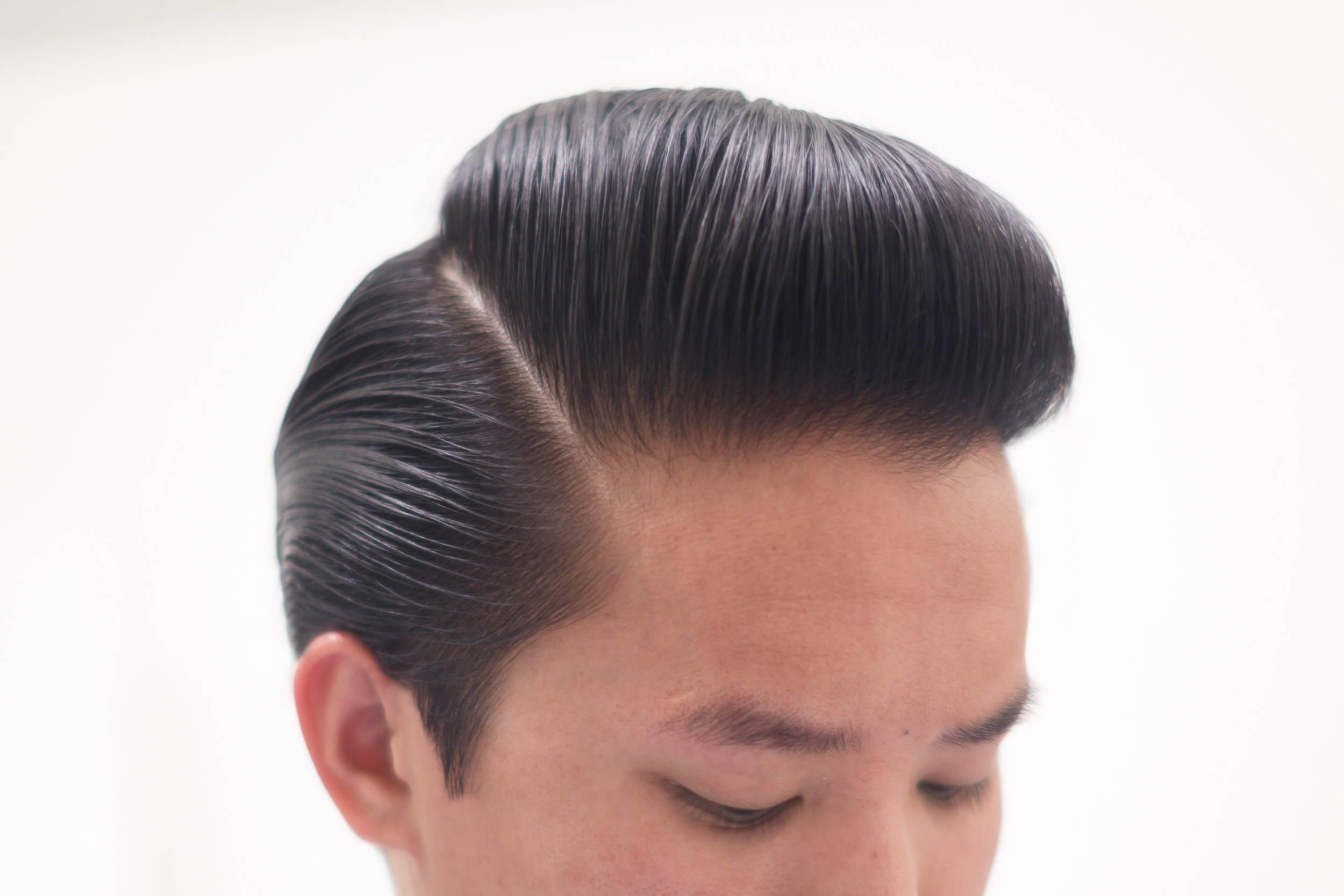 Long Full Pompadour Pomp Sides Slicked Slickback Part ThePomp