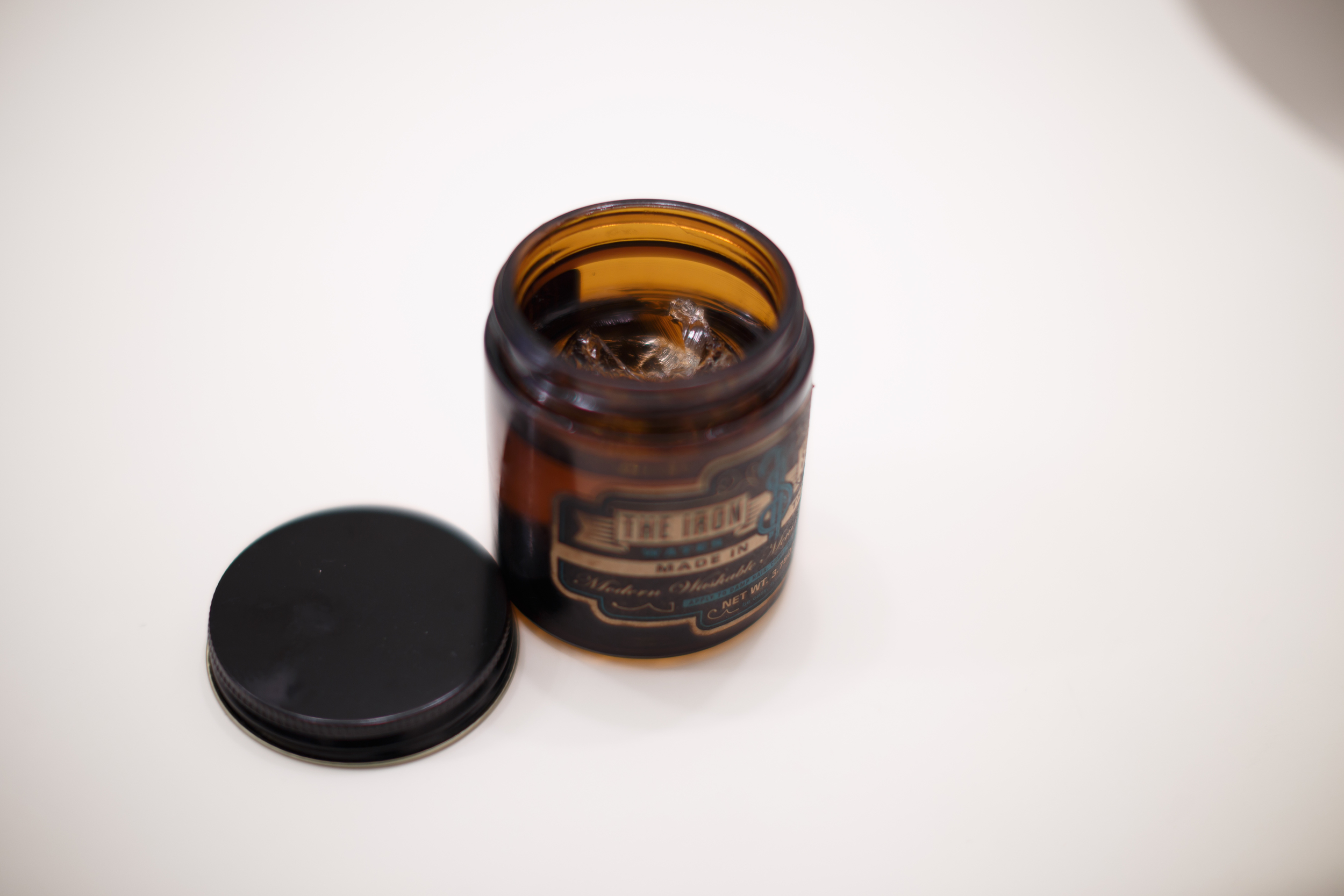 ThePomp Pomp Pomade Pompadour The Iron Society Water Soluble New York Jar Opened