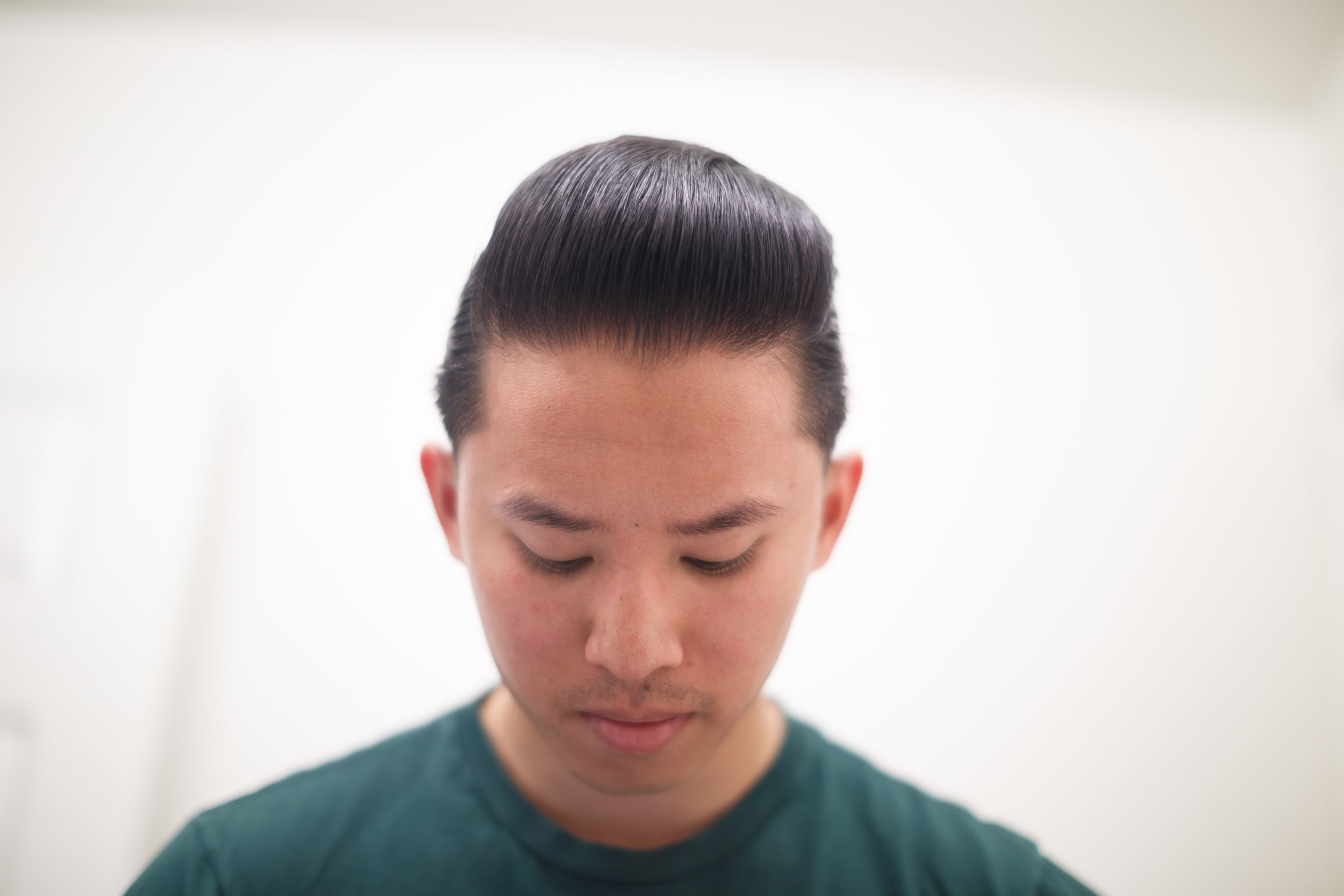 ThePomp Pomp Pomade Pompadour The Iron Society Water Soluble New York Jar Example Frontal Headshot